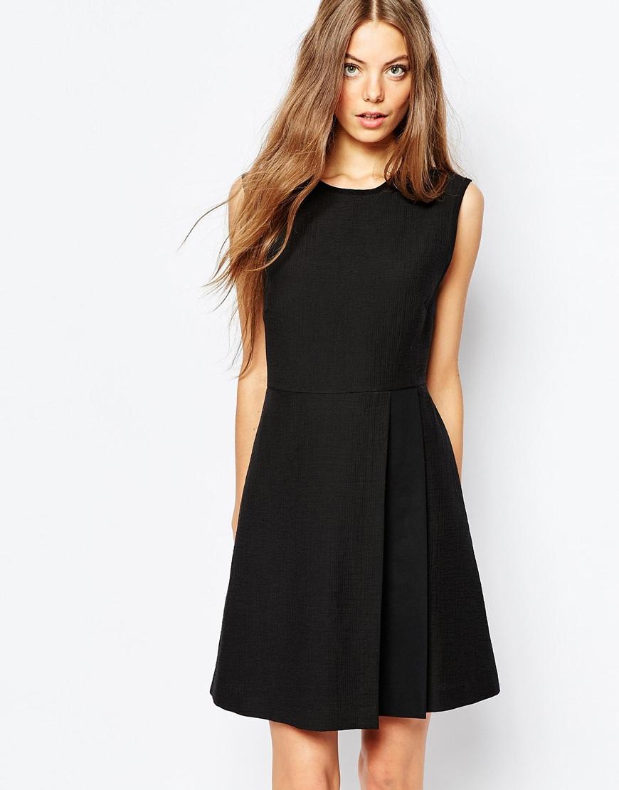 Sportmax code Portmax Code Sleeveless Dress In Black With Pleat ...