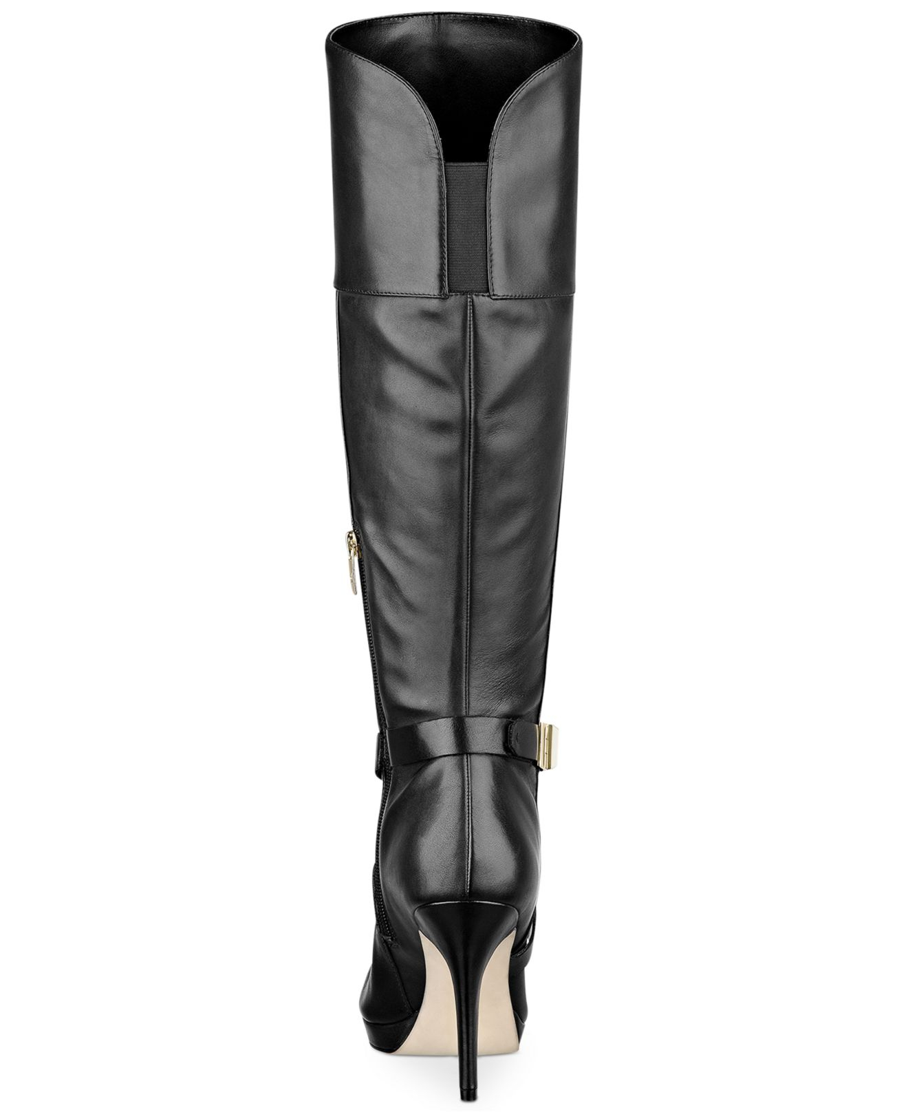 50-70%off another chance various colors Marc Fisher Black Tracey Tall Platform Wide Calf Dress Boot