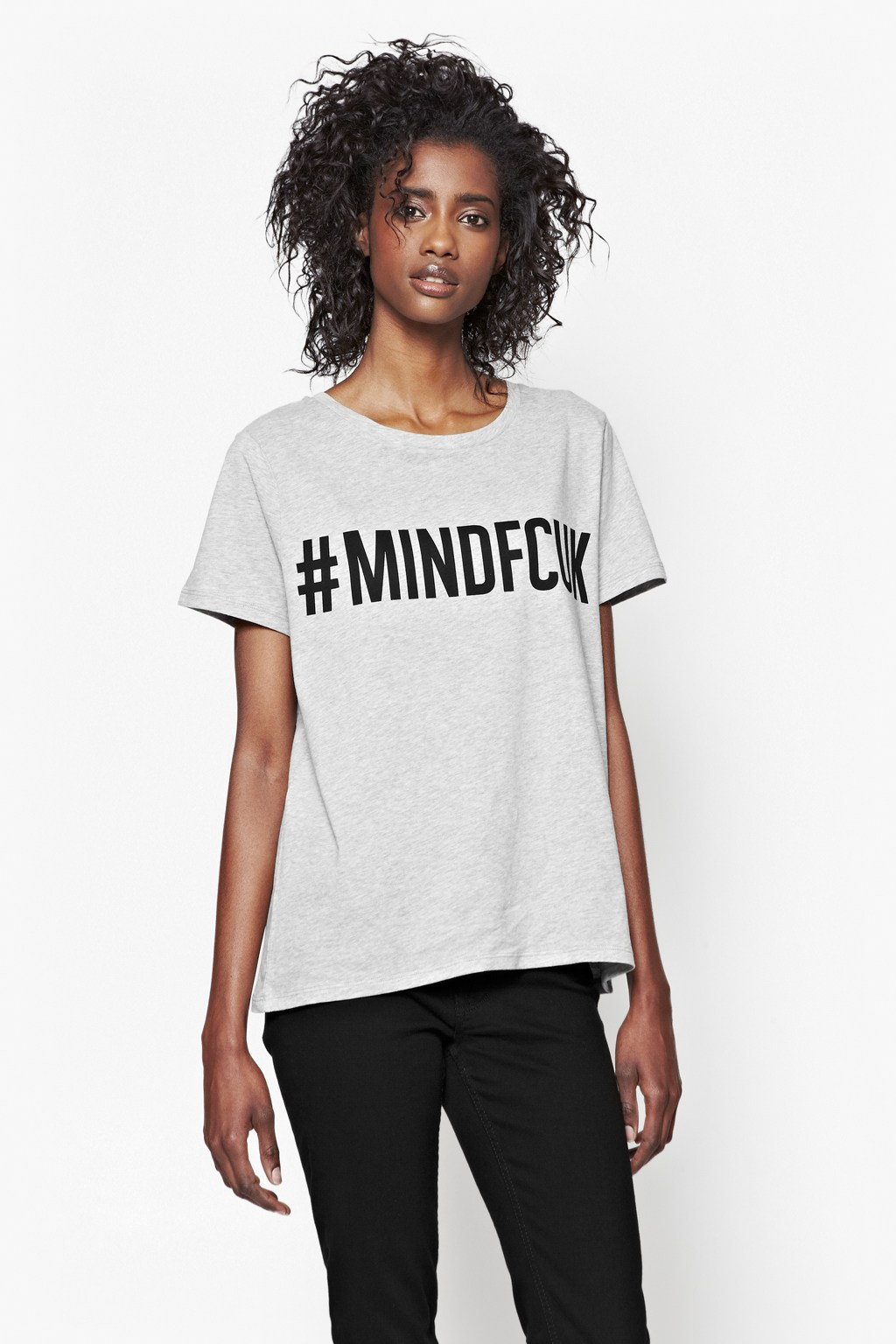 French connection mindfcuk cotton t shirt in gray lyst for French connection t shirt dress