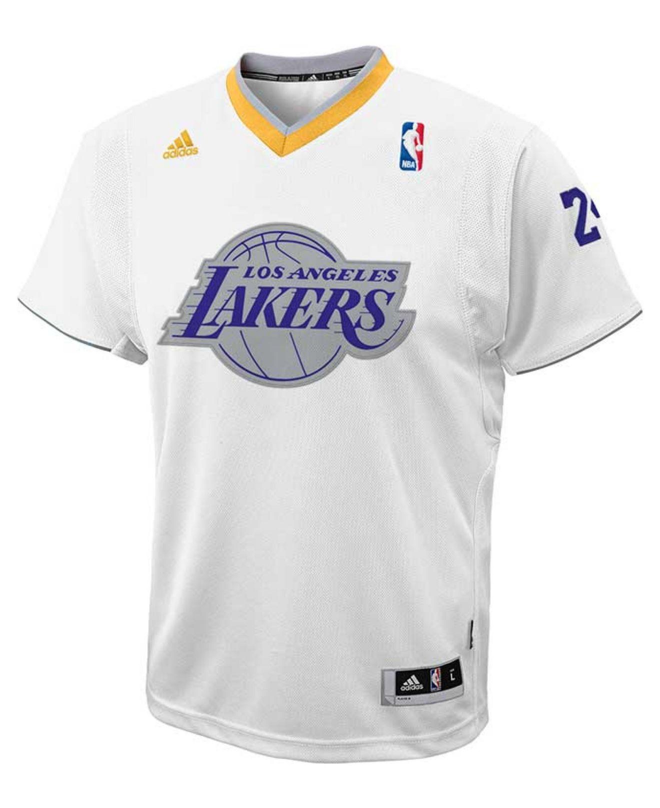 gcrfcl Adidas Kids\' Short-sleeve Kobe Bryant Los Angeles Lakers Swingman