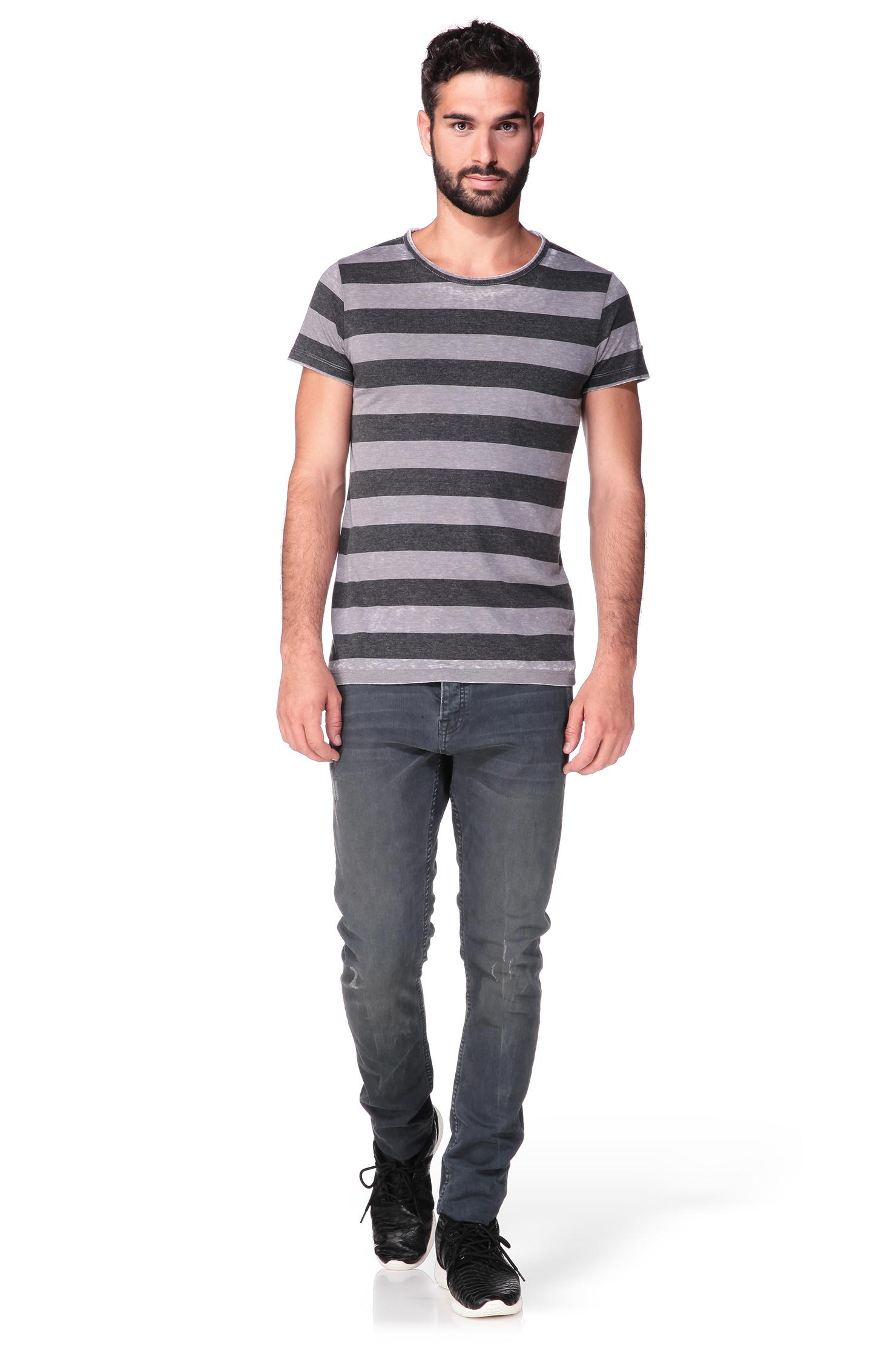 esprit short sleeve t shirt in gray for men lyst. Black Bedroom Furniture Sets. Home Design Ideas