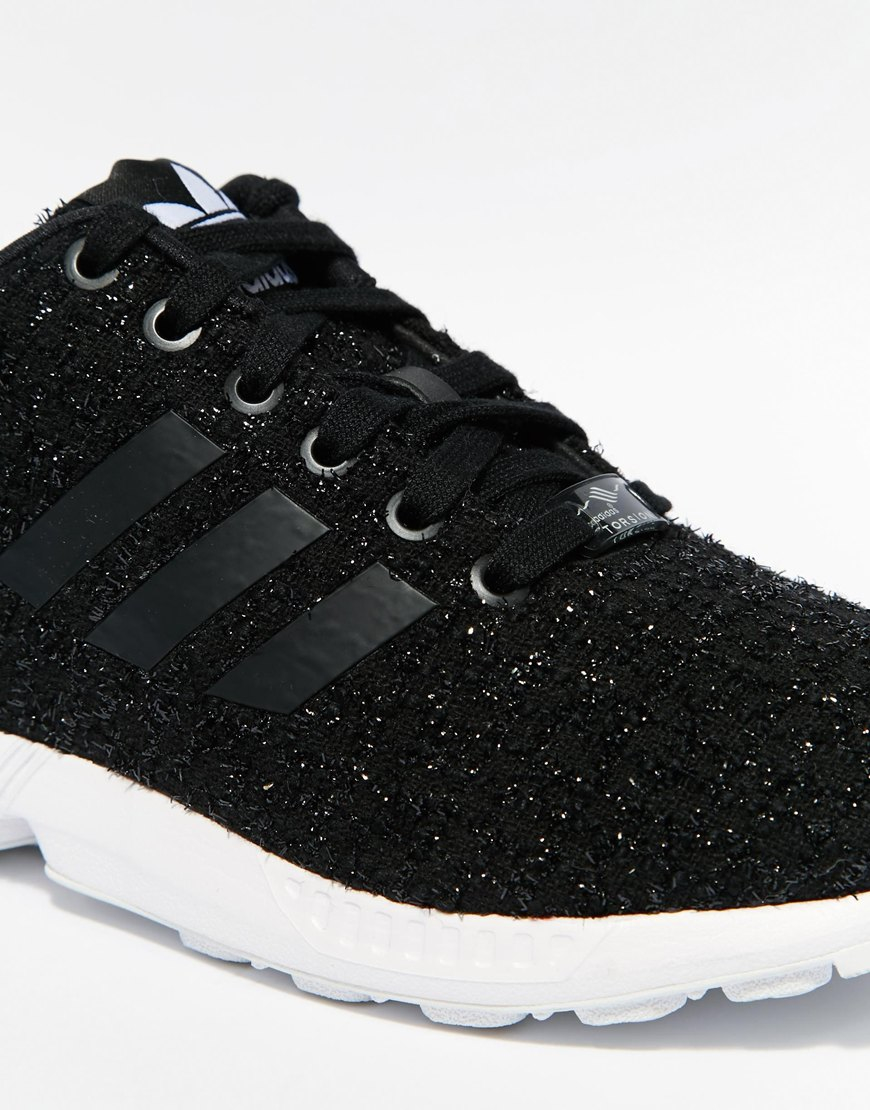 adidas black sparkle trainers