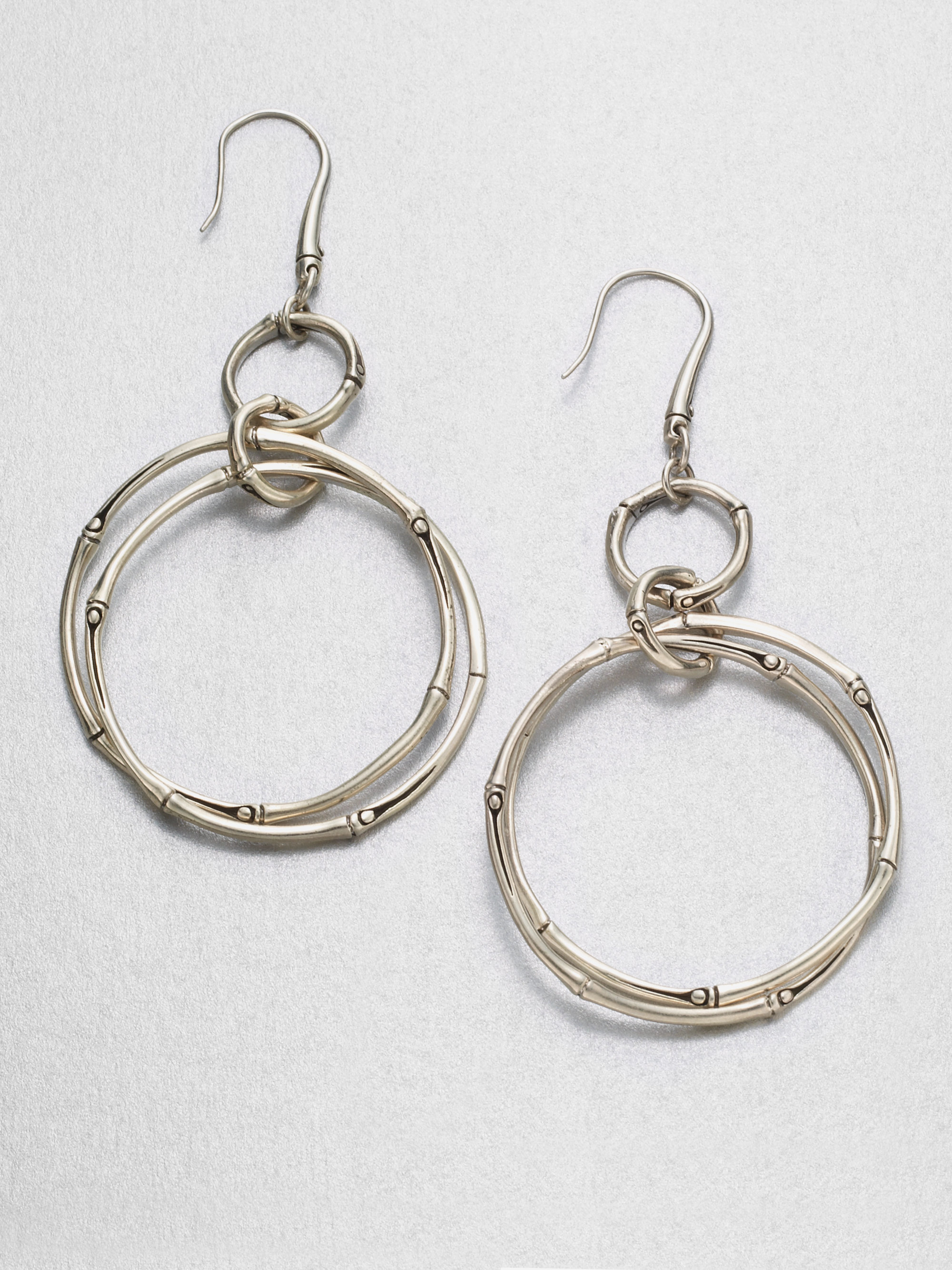 John hardy sterling silver link earrings in silver lyst for John hardy jewelry earrings