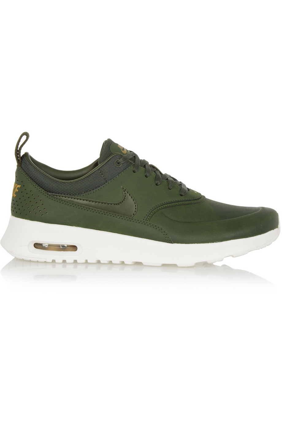 581cc8d5e9 Nike Air Max Thea Premium Leather Sneakers in Green - Lyst