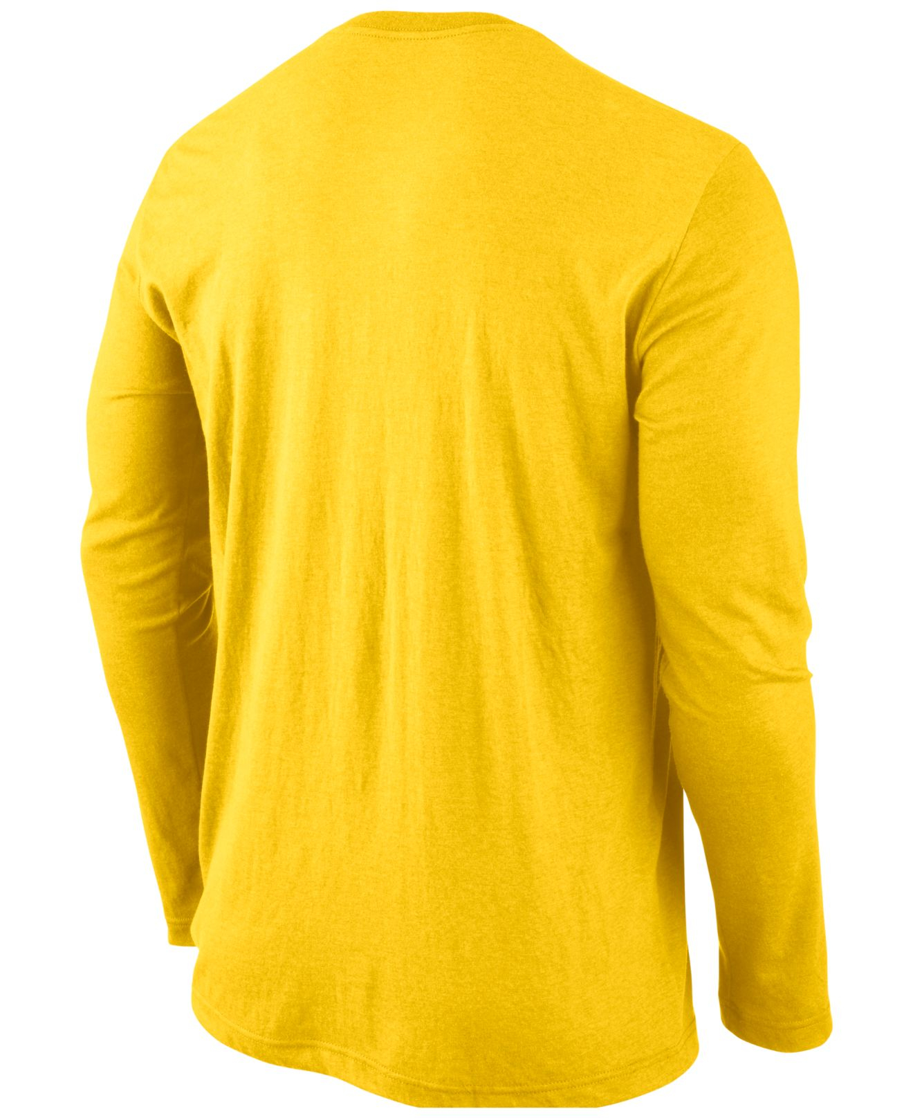 Nike Men'S Long-Sleeve Oregon Ducks Wordmark T-Shirt in Yellow for ...