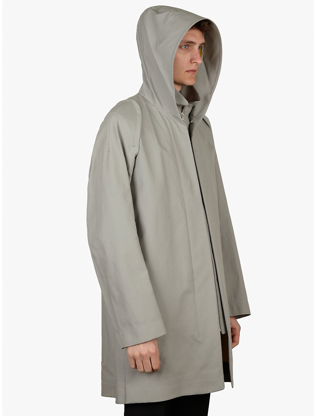 jil sander mens cile show jacket raincoat in gray for men. Black Bedroom Furniture Sets. Home Design Ideas