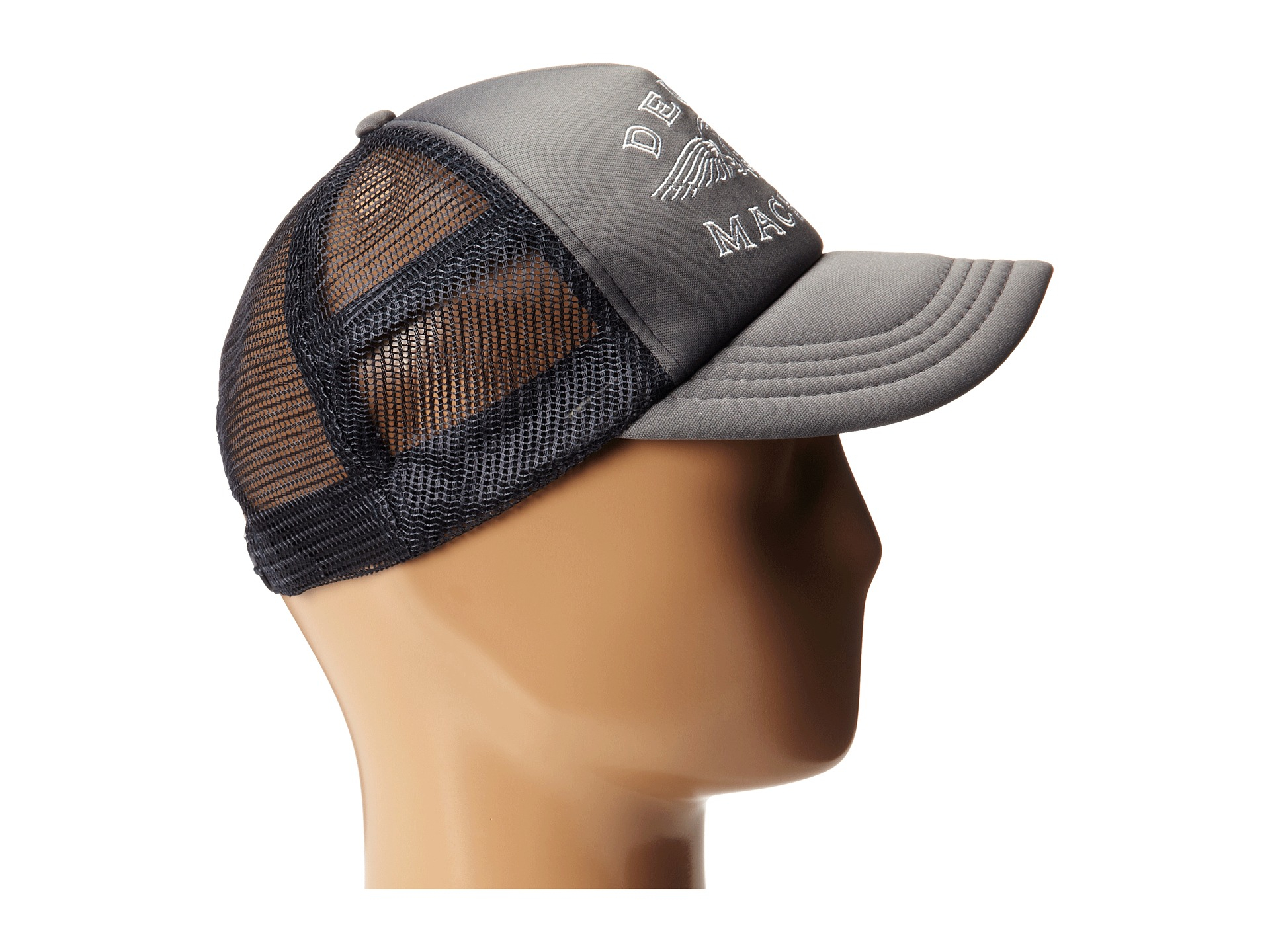 lyst deus ex machina curtis trucker cap in black for men. Black Bedroom Furniture Sets. Home Design Ideas