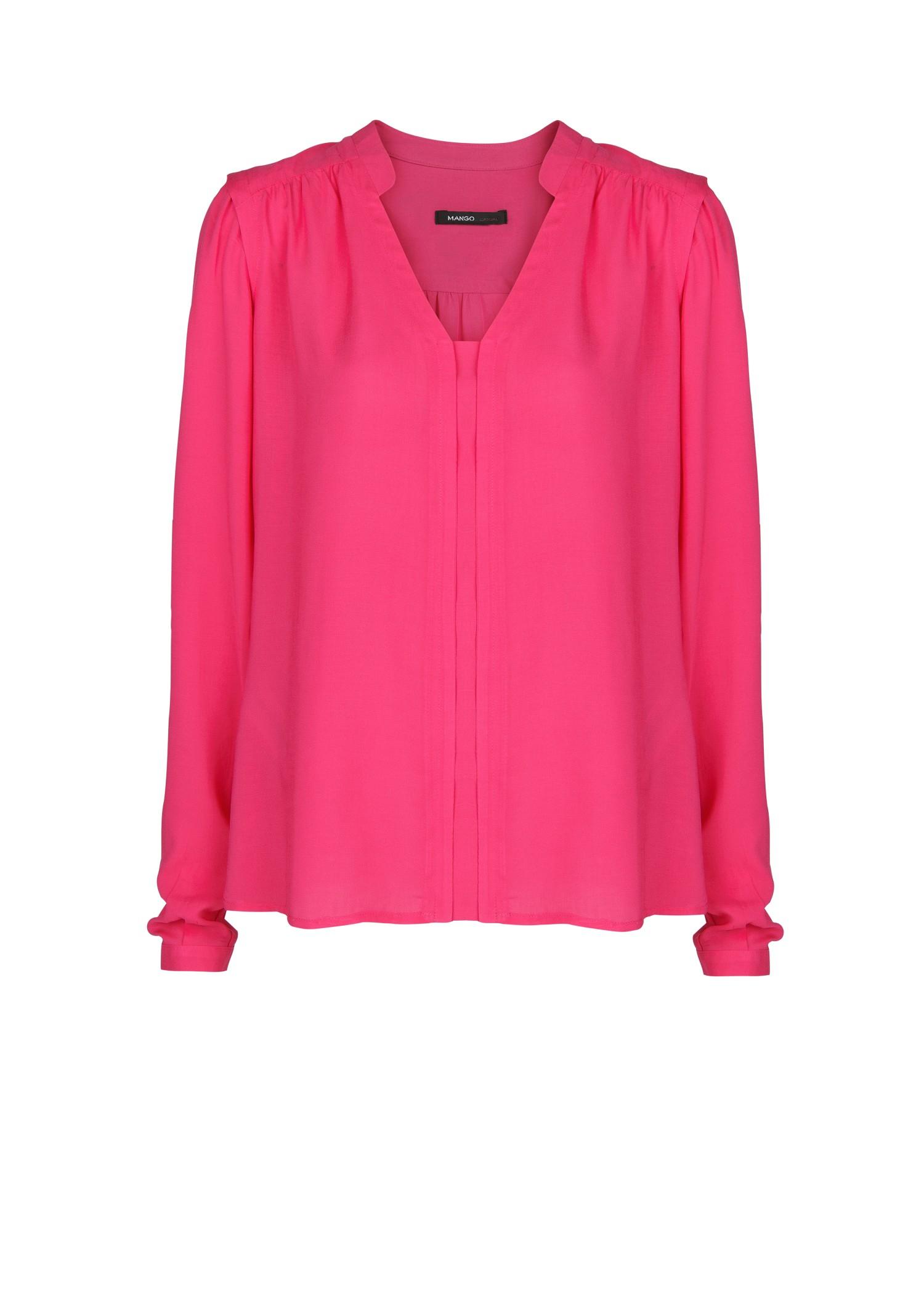 Mango Flowy Shirt in Pink | Lyst
