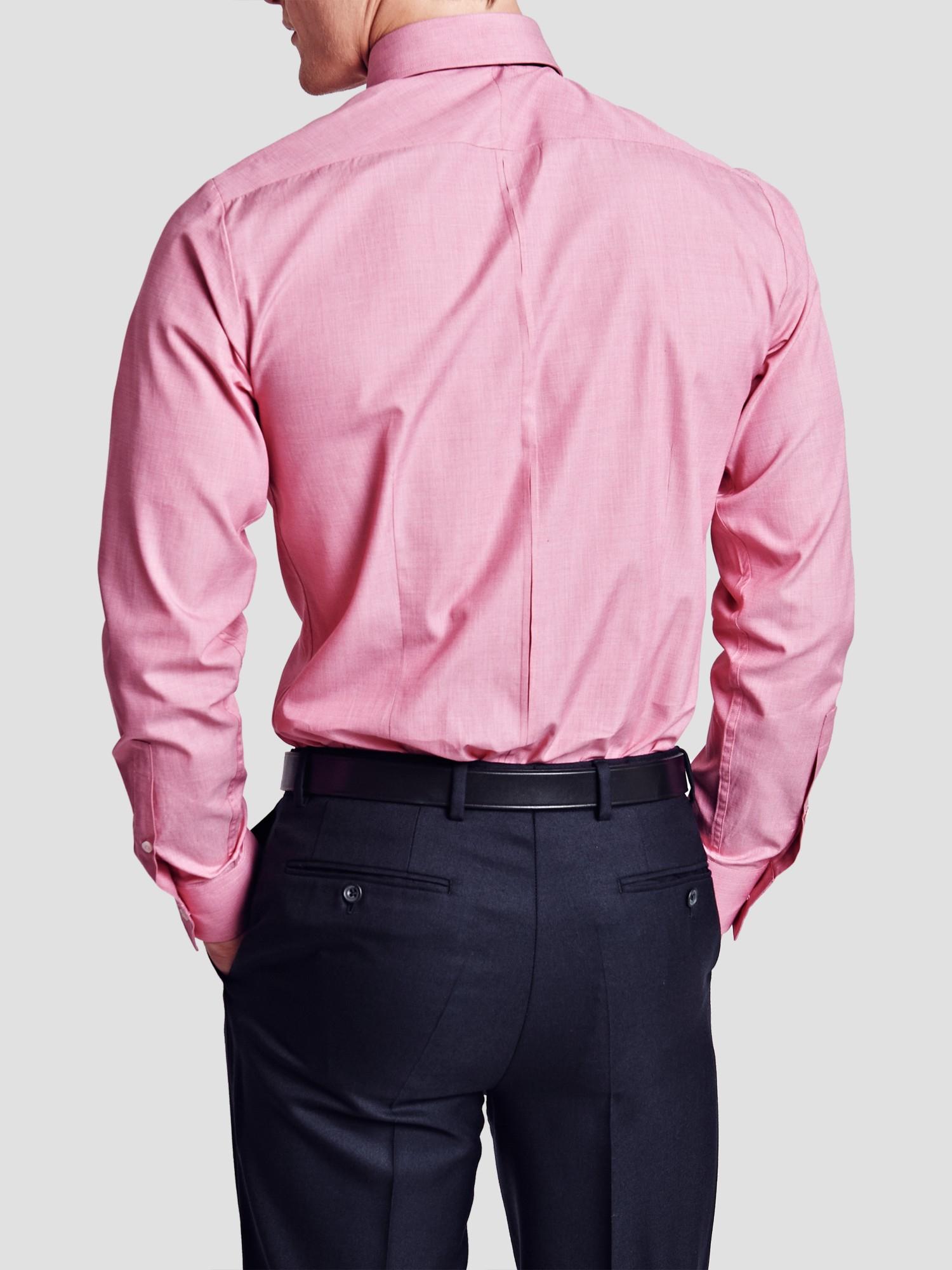 Thomas Pink Derick Plain Super Slim Fit Shirt In Pink For