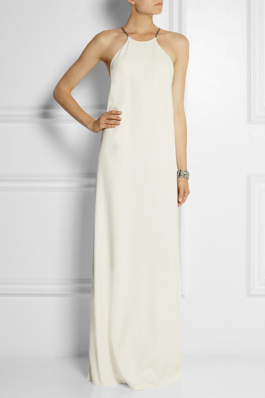 Lyst Calvin Klein Jarvis Crepe Maxi Dress In White