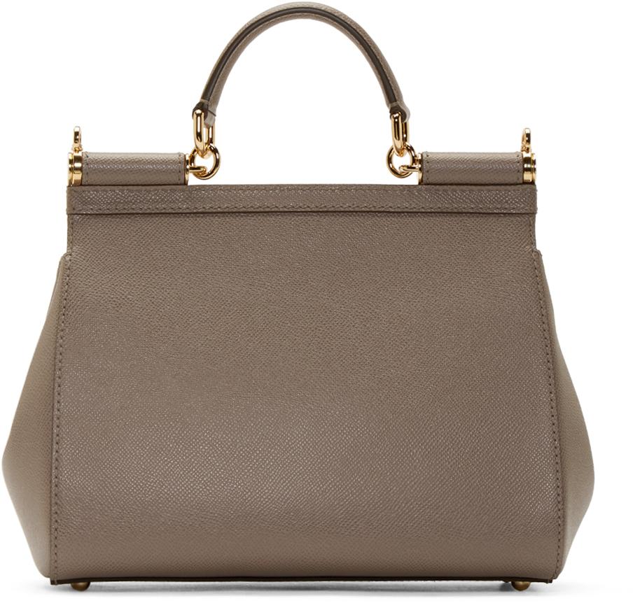 0bd222befde1 Lyst - Dolce   Gabbana Grey Medium Miss Sicily Bag in Gray