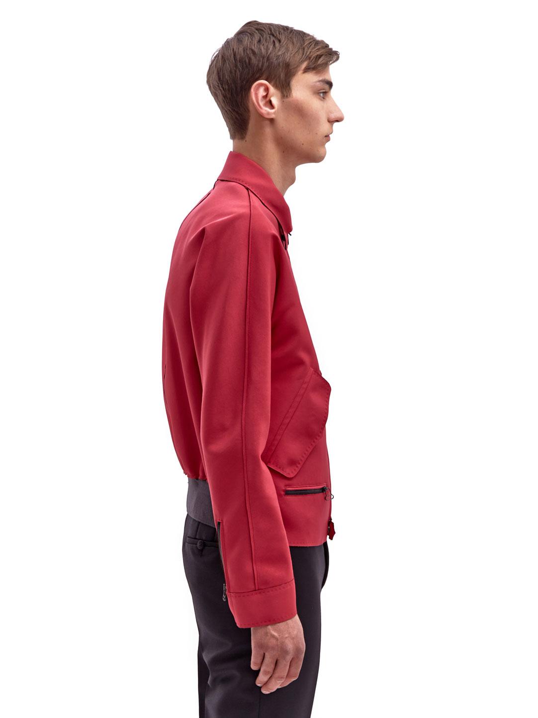 Lanvin Synthetic Mens Blouson Jacket in Red for Men