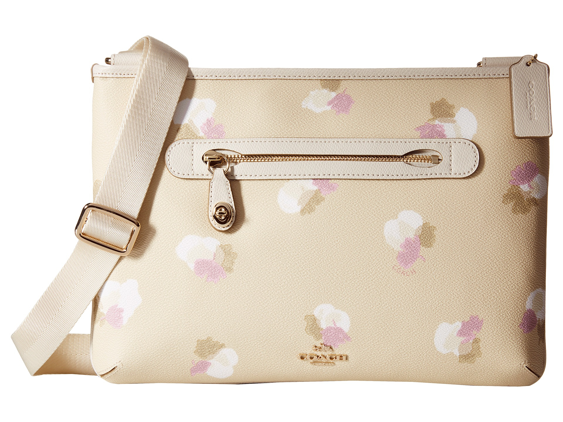 e68d1b5d3011 Lyst - COACH Whls Floral Printed Taylor Crossbody in Natural