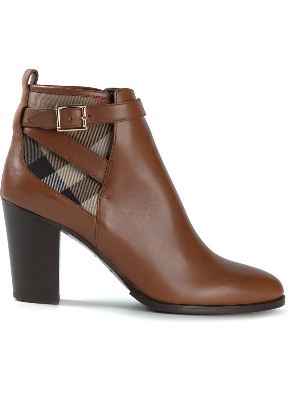 House Check ankle boots - Brown Burberry dCgxuWP