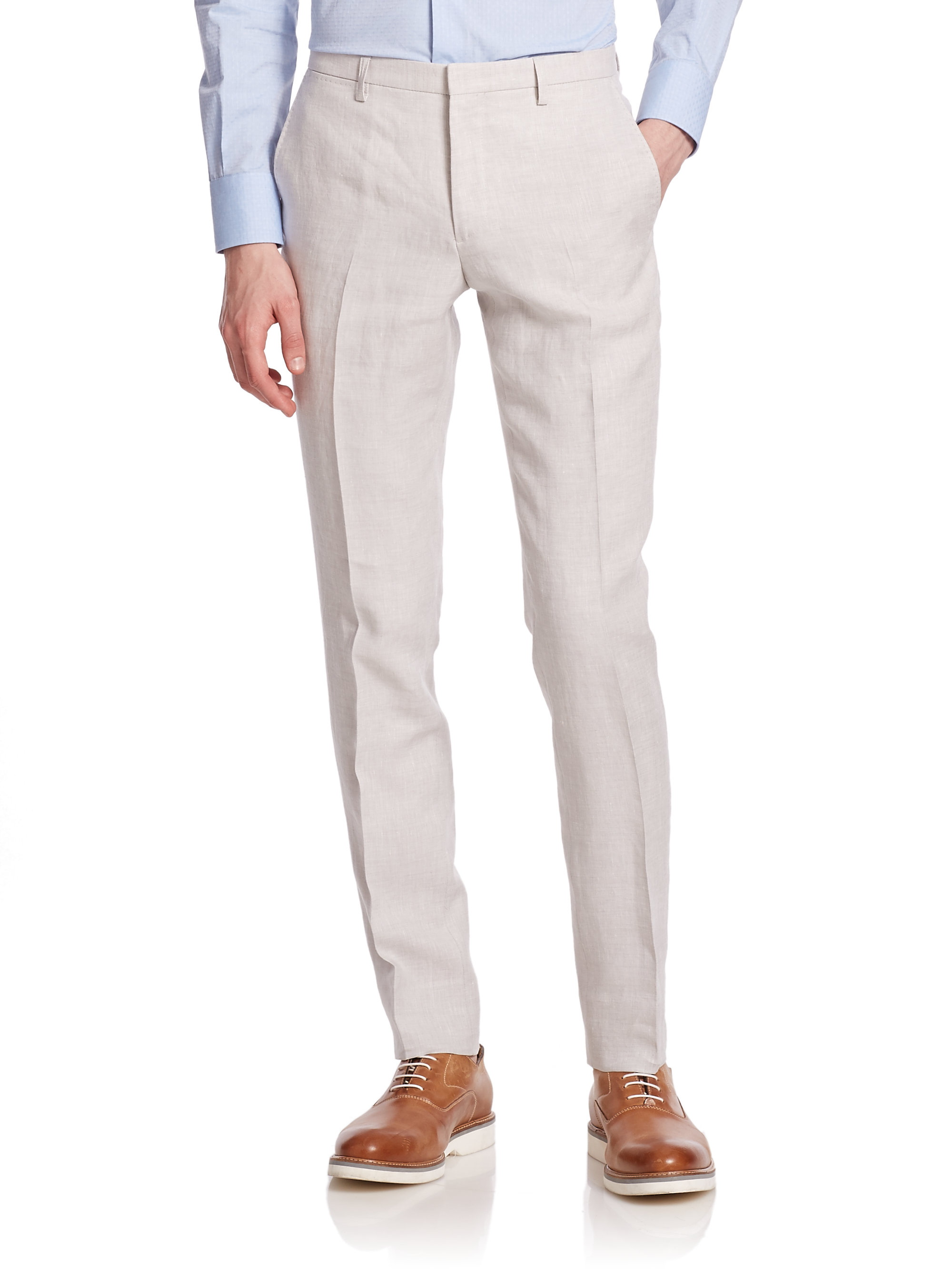 Excellent Reiss Nell Arc Tailored Trousers In Gray  Lyst