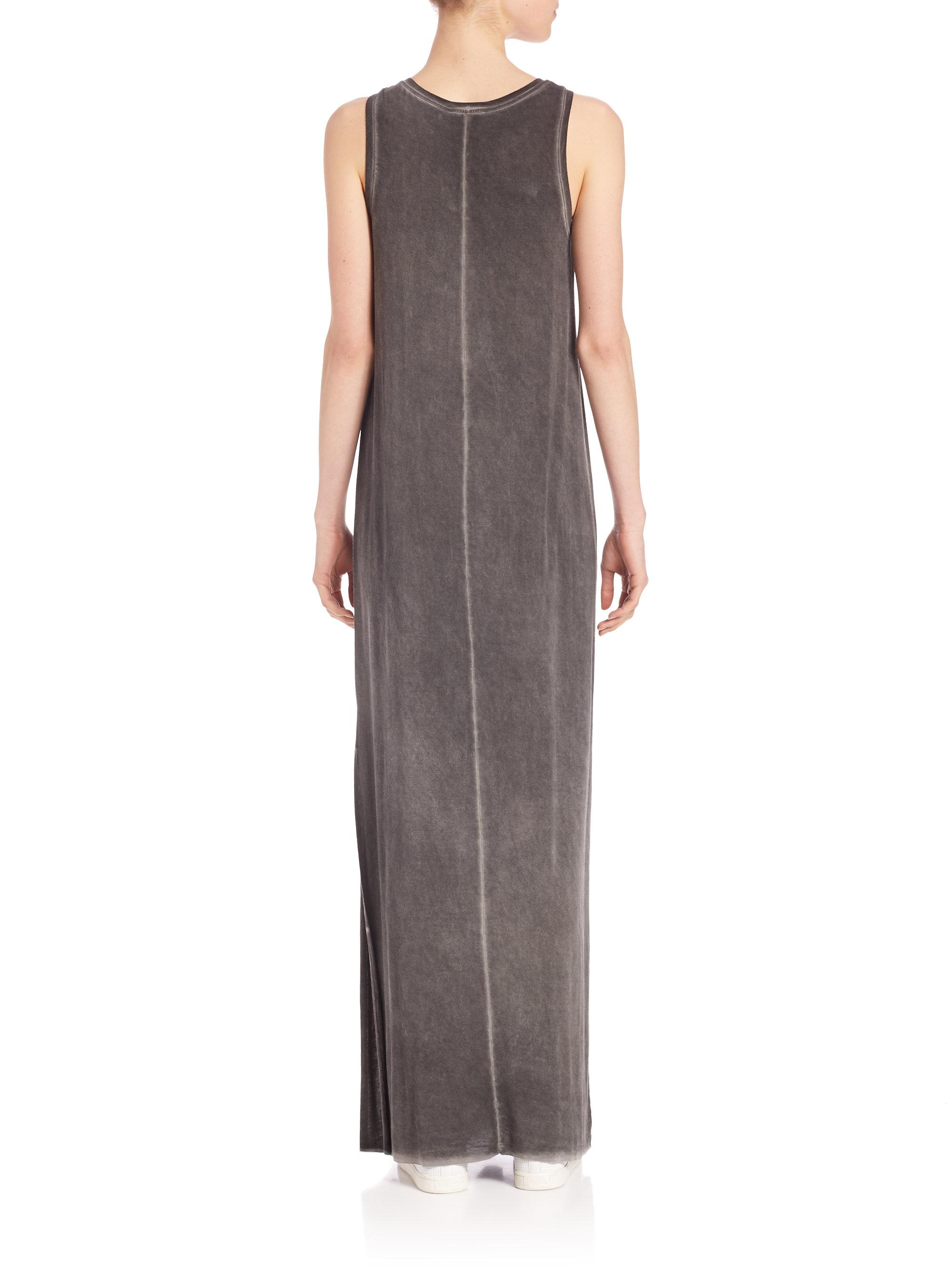 Paige Gretchen Vintage T Shirt Maxi Dress In Black Lyst