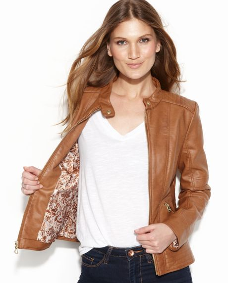Guess White Faux Leather Jacket images