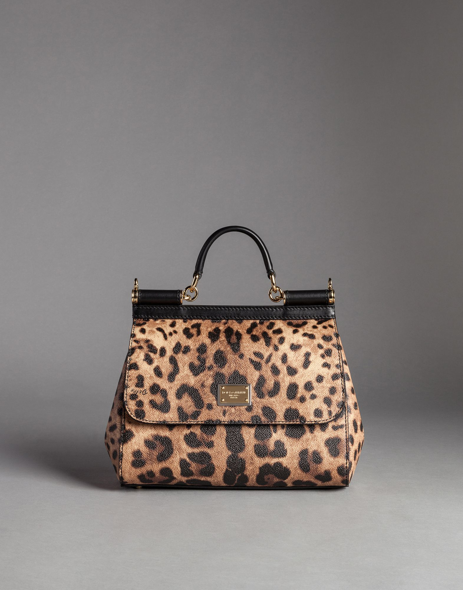 b79f6d5be3 Lyst - Dolce   Gabbana Medium Sicily Bag In Leopard Textured Leather ...