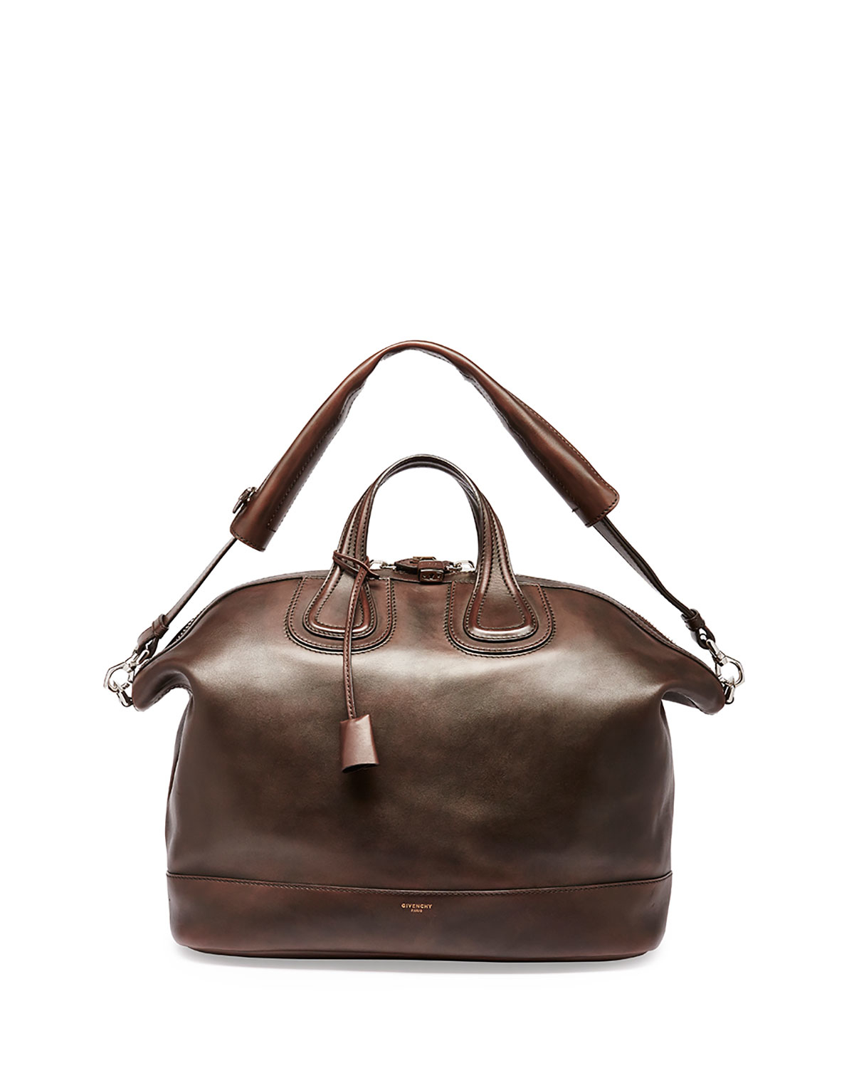 3b4b189d53a7 Lyst - Givenchy Nightingale Men s Leather Satchel Bag in Brown for Men