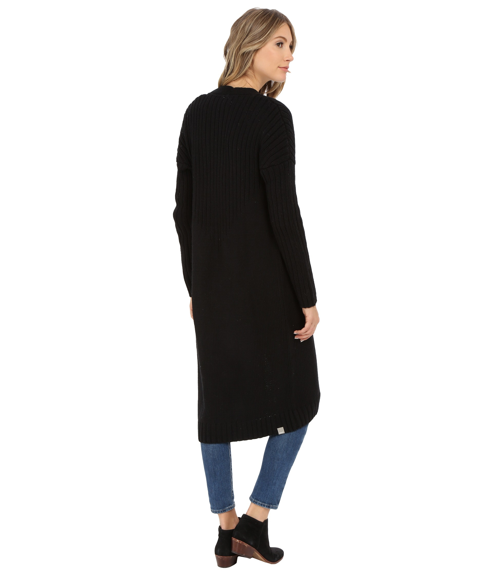 Lyst Bench Standtall Long Cardigan In Black