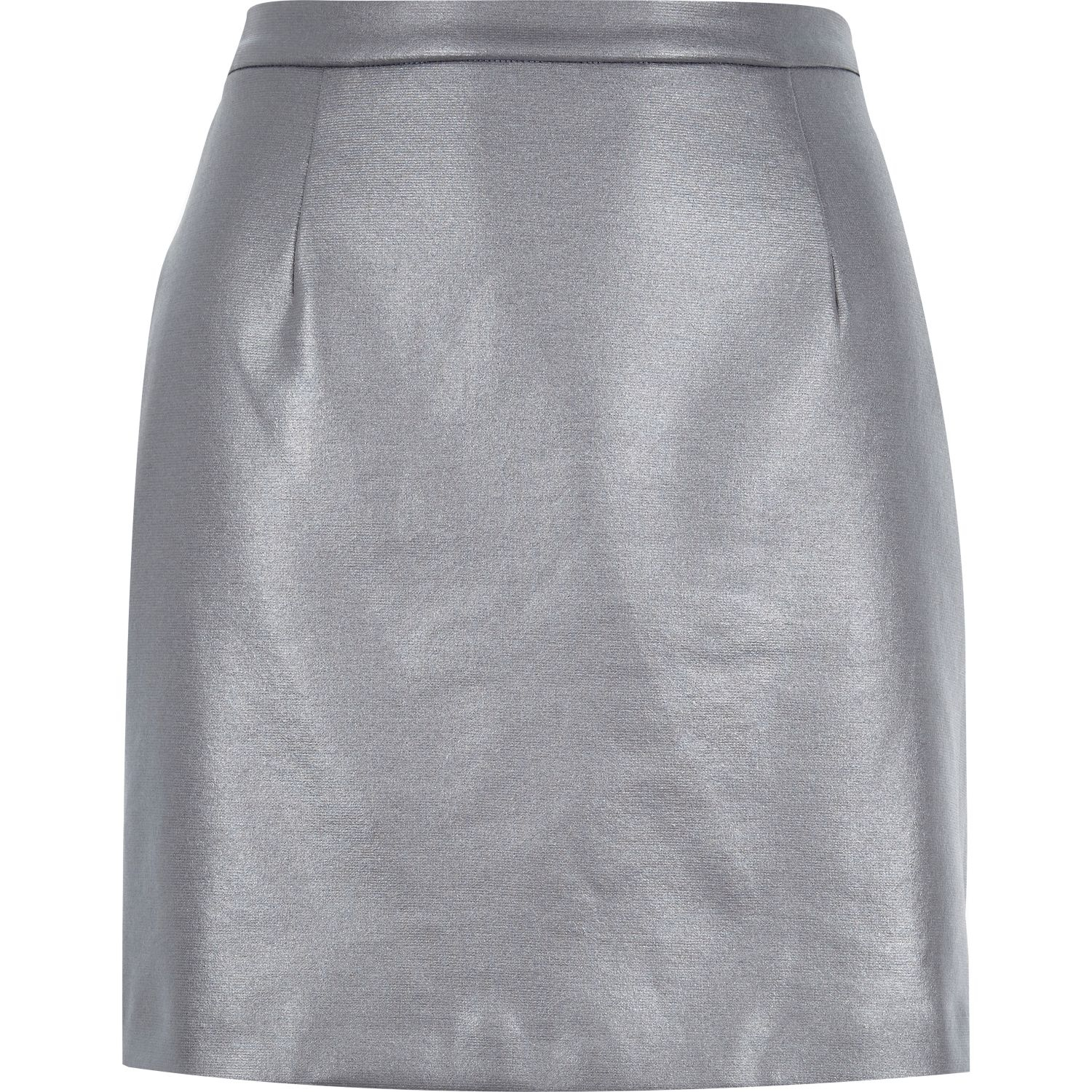 river island grey coated a line skirt in gray grey