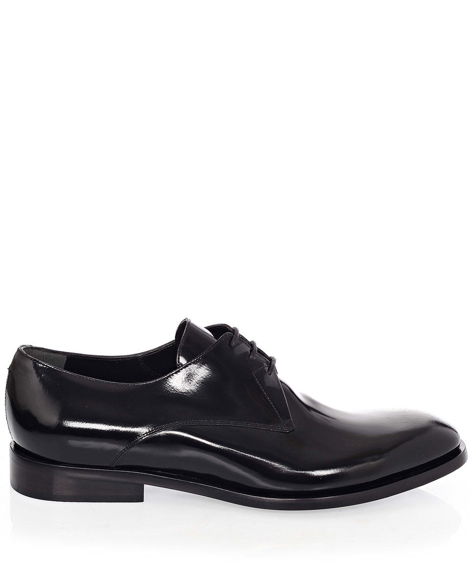 Reiss Black Patent Leather Shoes