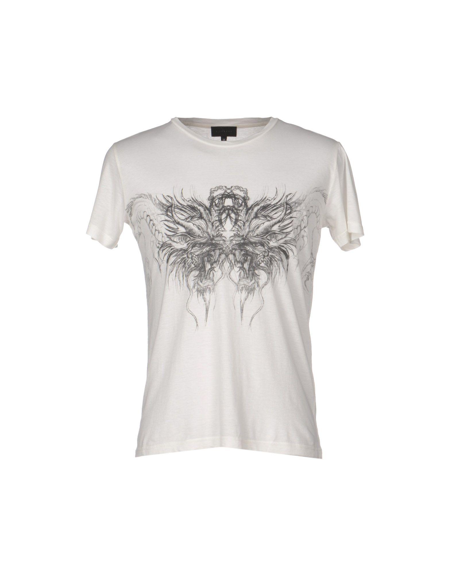 John richmond tshirt in white for men lyst for T shirt printing richmond va