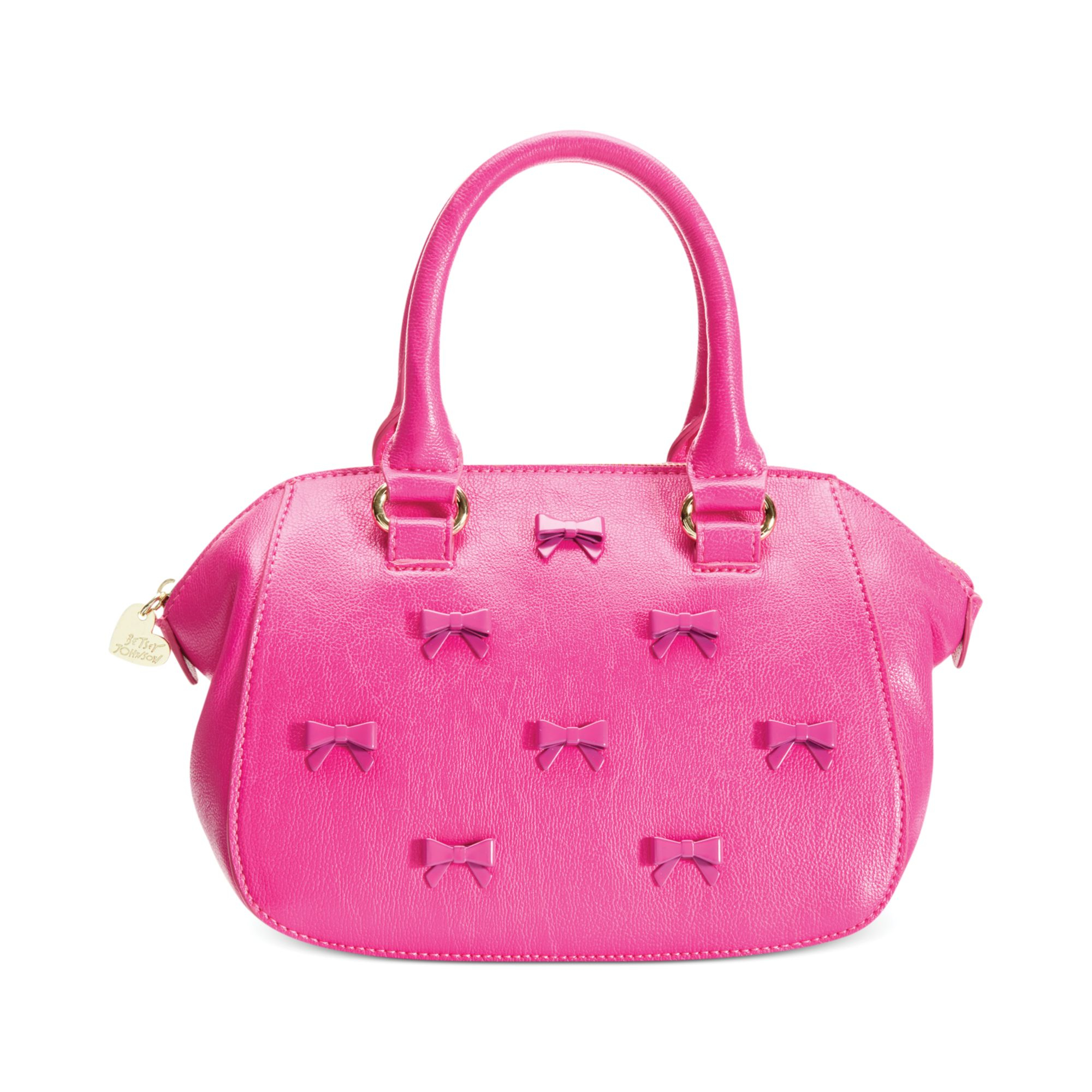 01cecd1fbeda Betsey Johnson Pink Little Bow Chic Crossbody Satchel