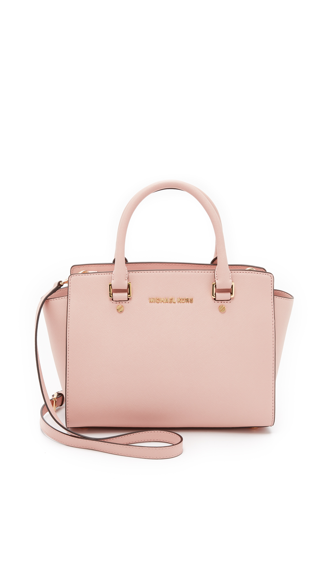 d47fe51284e3 ... order michael michael kors selma medium satchel ballet in pink lyst  4e41f bffbf