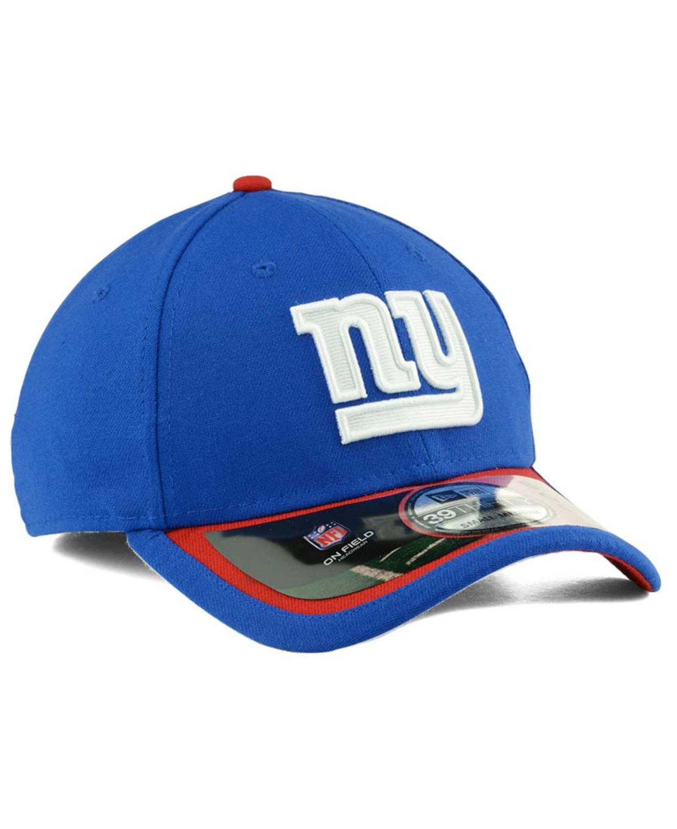 ktz new york giants on field 39thirty cap in red for men. Black Bedroom Furniture Sets. Home Design Ideas