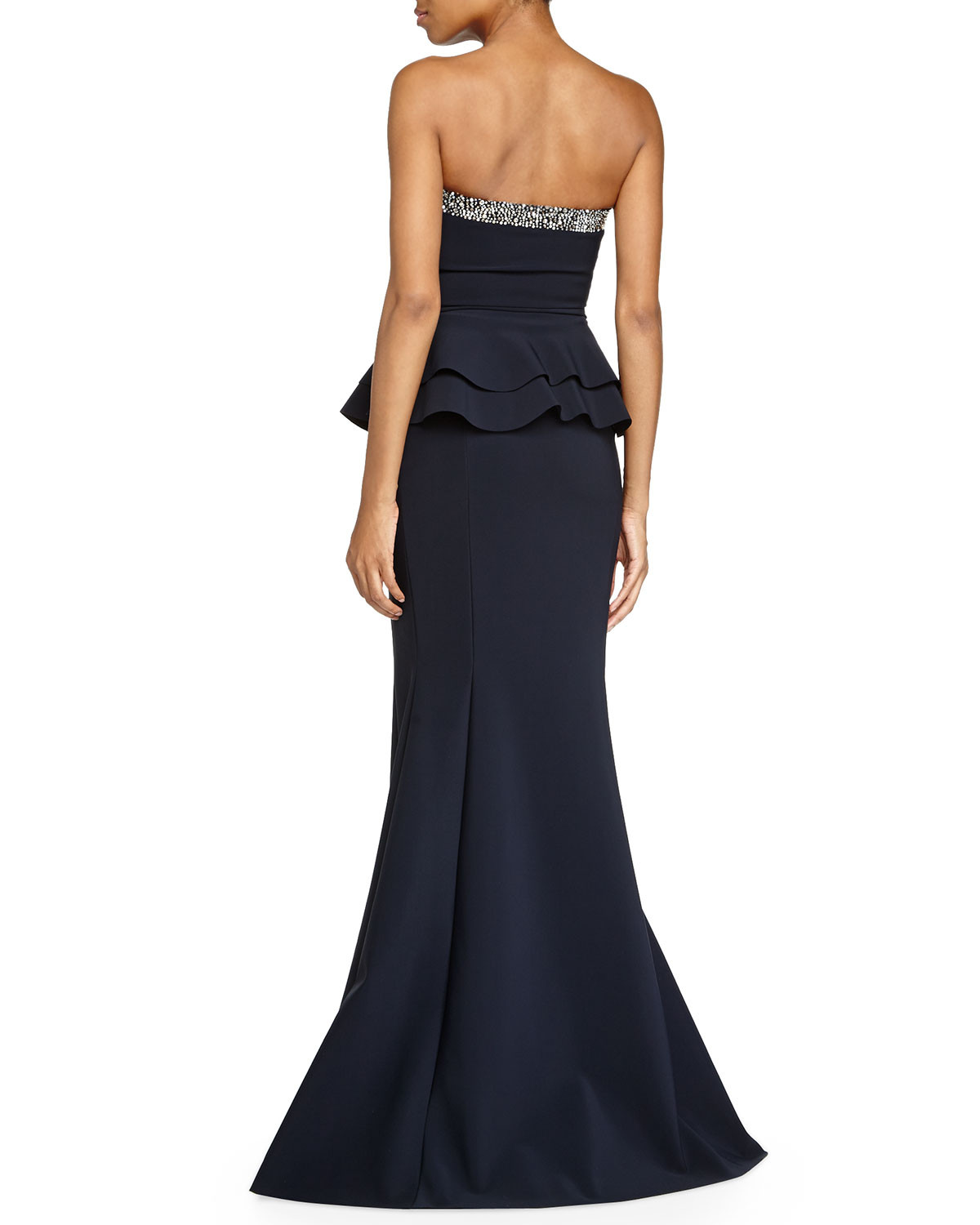 Chiara Boni The Most Popular Dress In America: La Petite Robe Di Chiara Boni Mebony Mermaid Peplum Gown