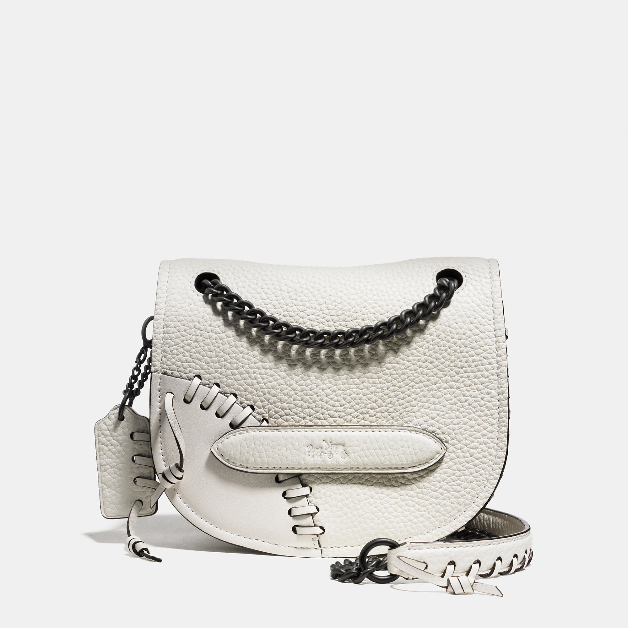 Lyst - COACH Rip And Repair Shadow Crossbody In Leather in White 03d3844fffa9c