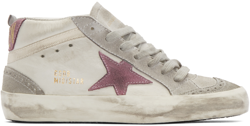 3bf7ba27cb951 Lyst - Golden Goose Deluxe Brand Midstar Leather and Suede Mid-Top ...
