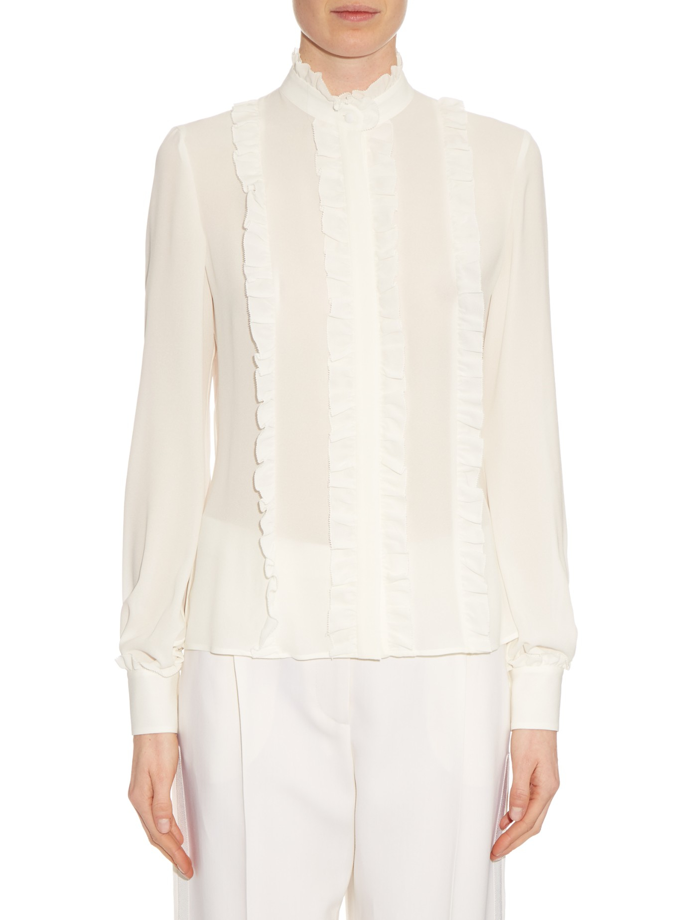 White Silk Georgette Blouse 89