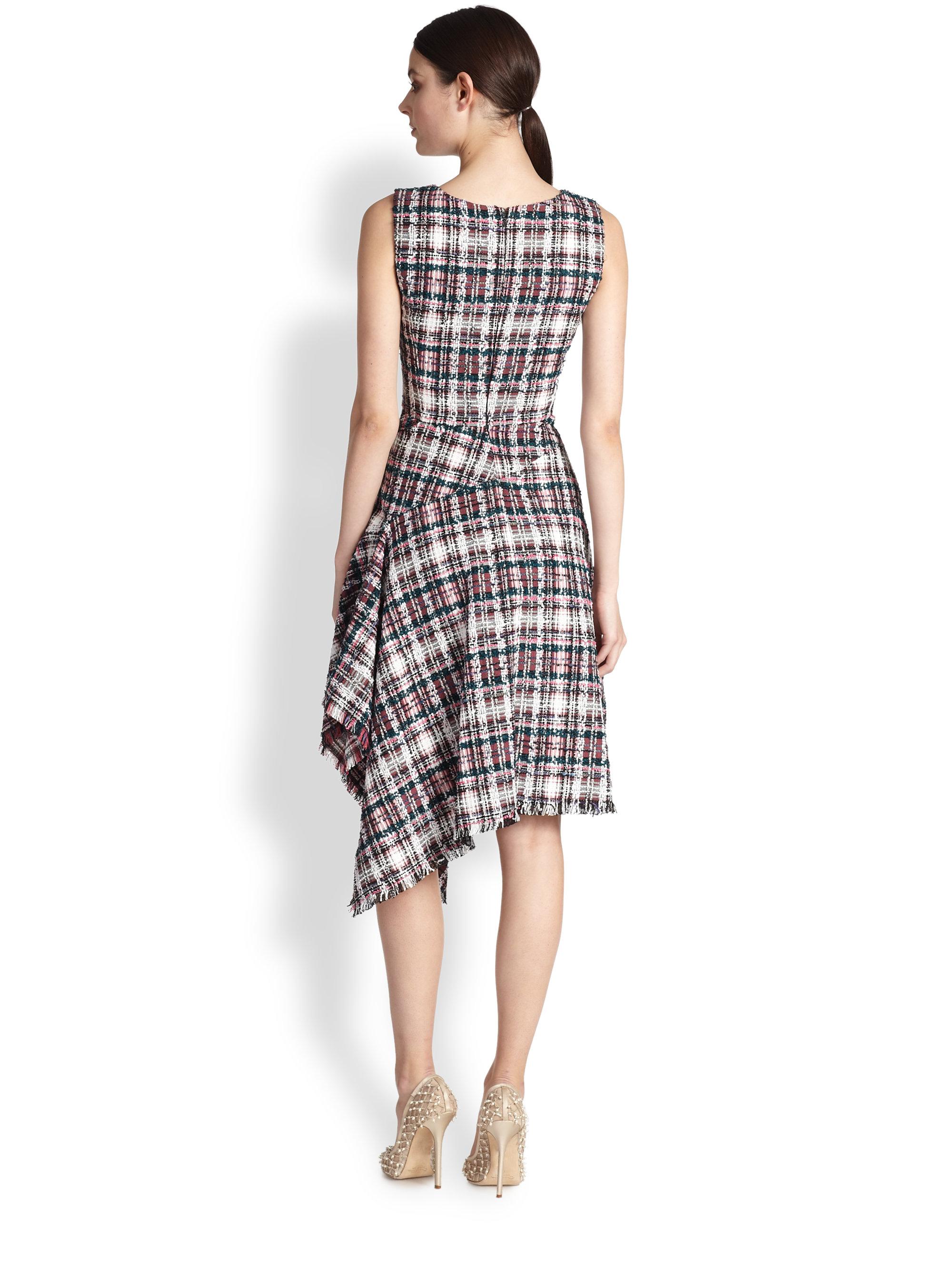 embellished asymmetric dress - Multicolour Oscar De La Renta OTxFxVo5G