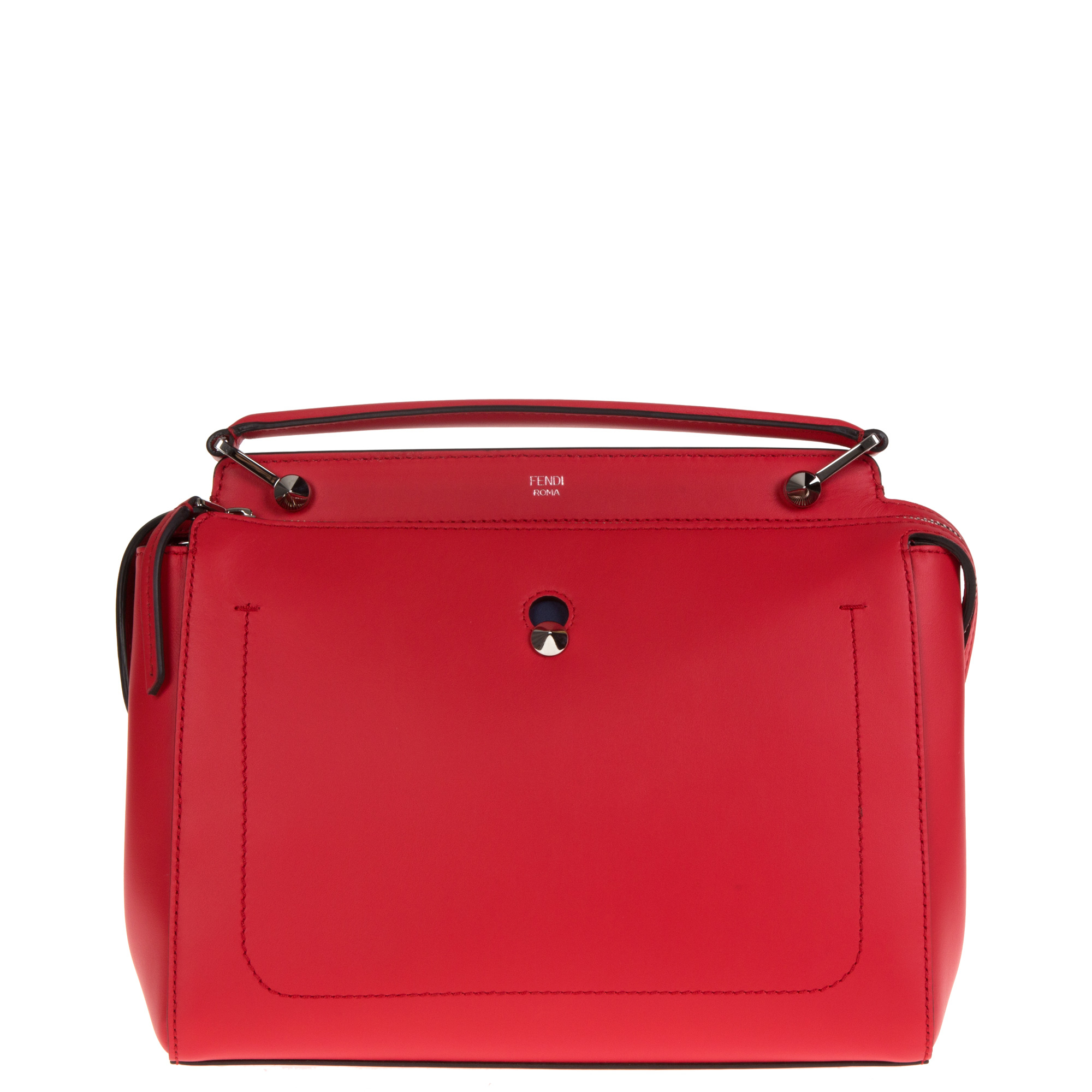f7d219d381 Fendi Dotcom Leather Bag in Red - Lyst