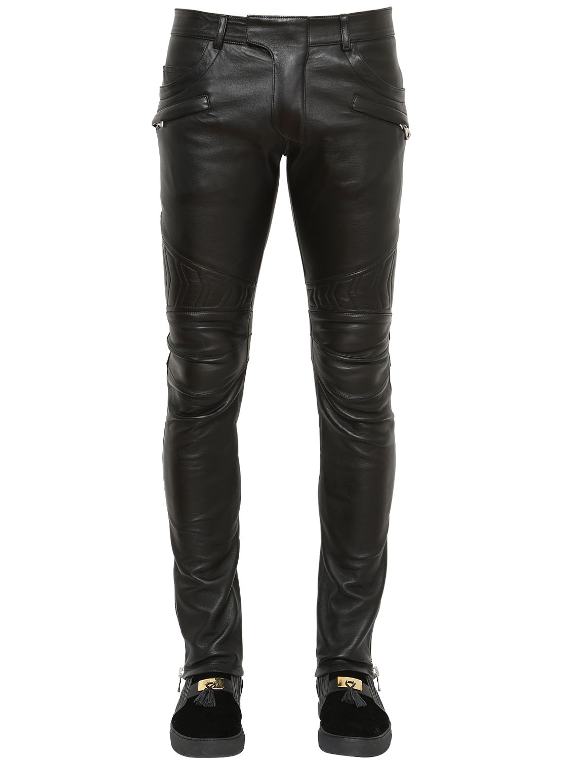 NWT $ Pierre Balmain Men's Black Leather-Trim Jogger Pants Size 56/40 September 3, admin This item is new, If you have any further questions regarding the condition of .