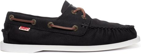 Black Levi Shoes Levi's Parker Boat Shoes