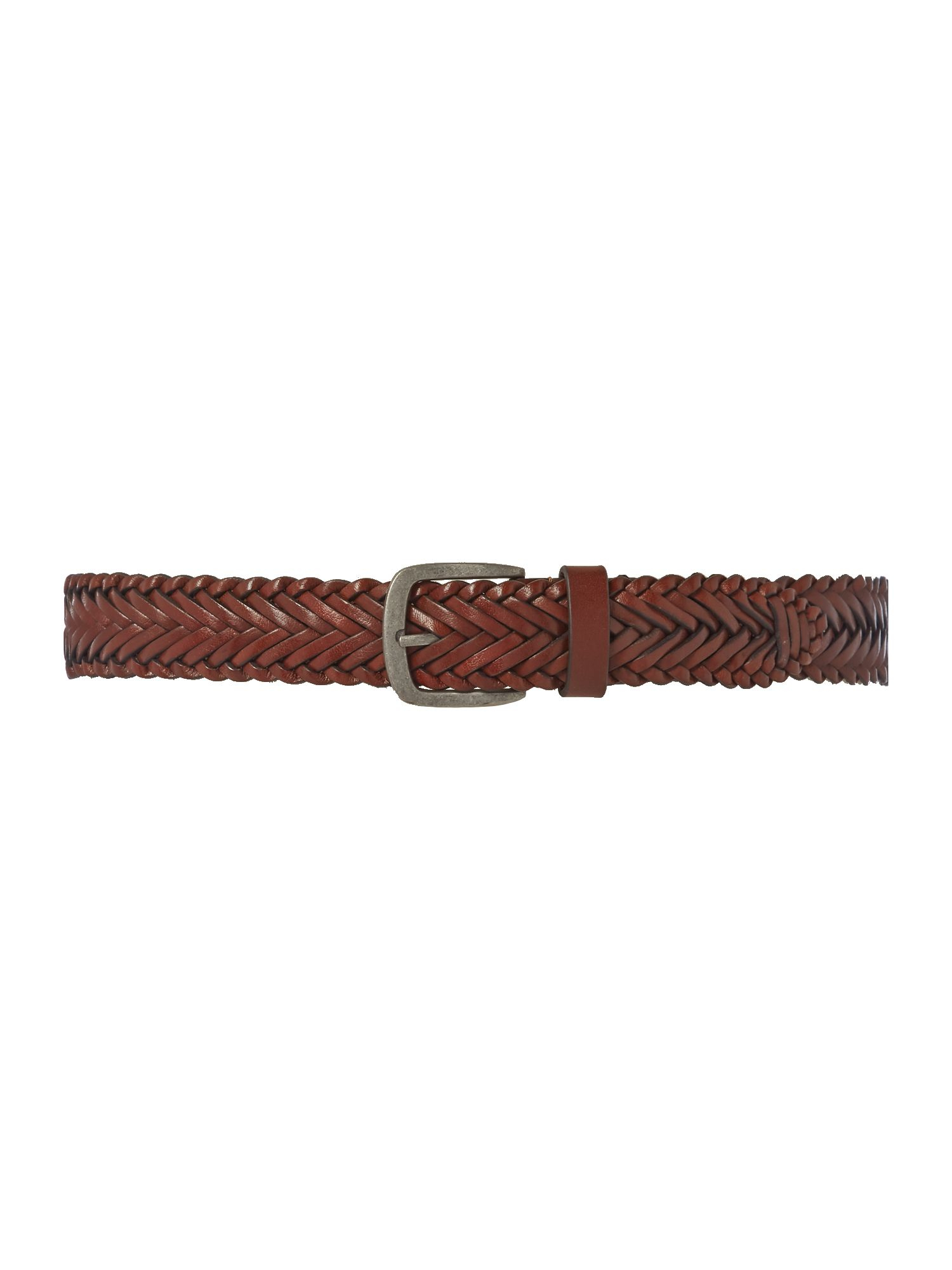 howick plaited leather belt in brown lyst