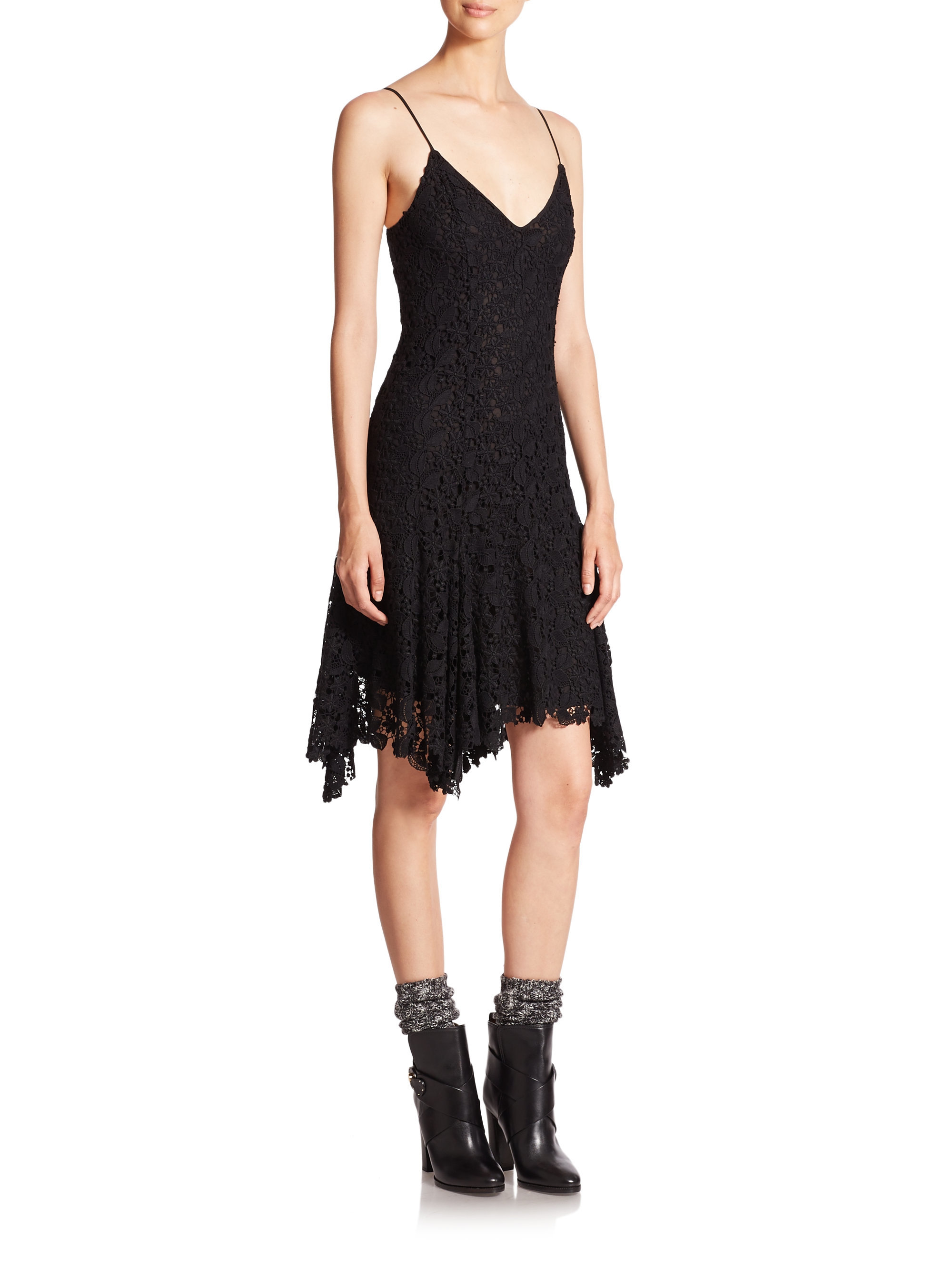 polo ralph lauren polo black lace dress black product 0 383986728 normal