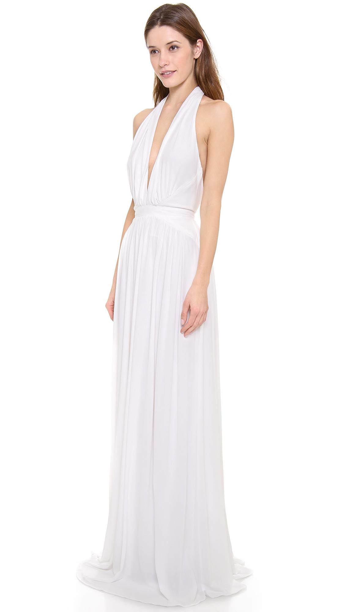 Lyst - Issa Halter Gown in White