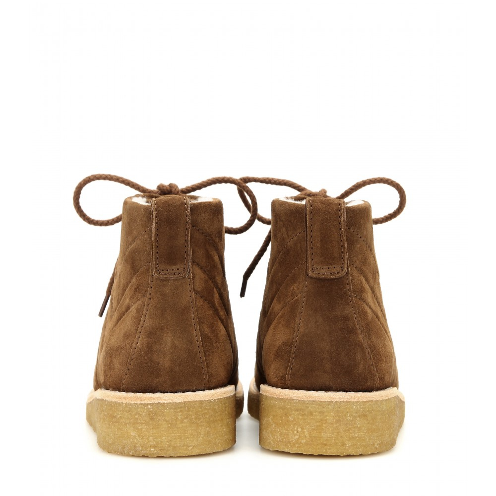 A.P.C. Heidi Suede Boots in Brown