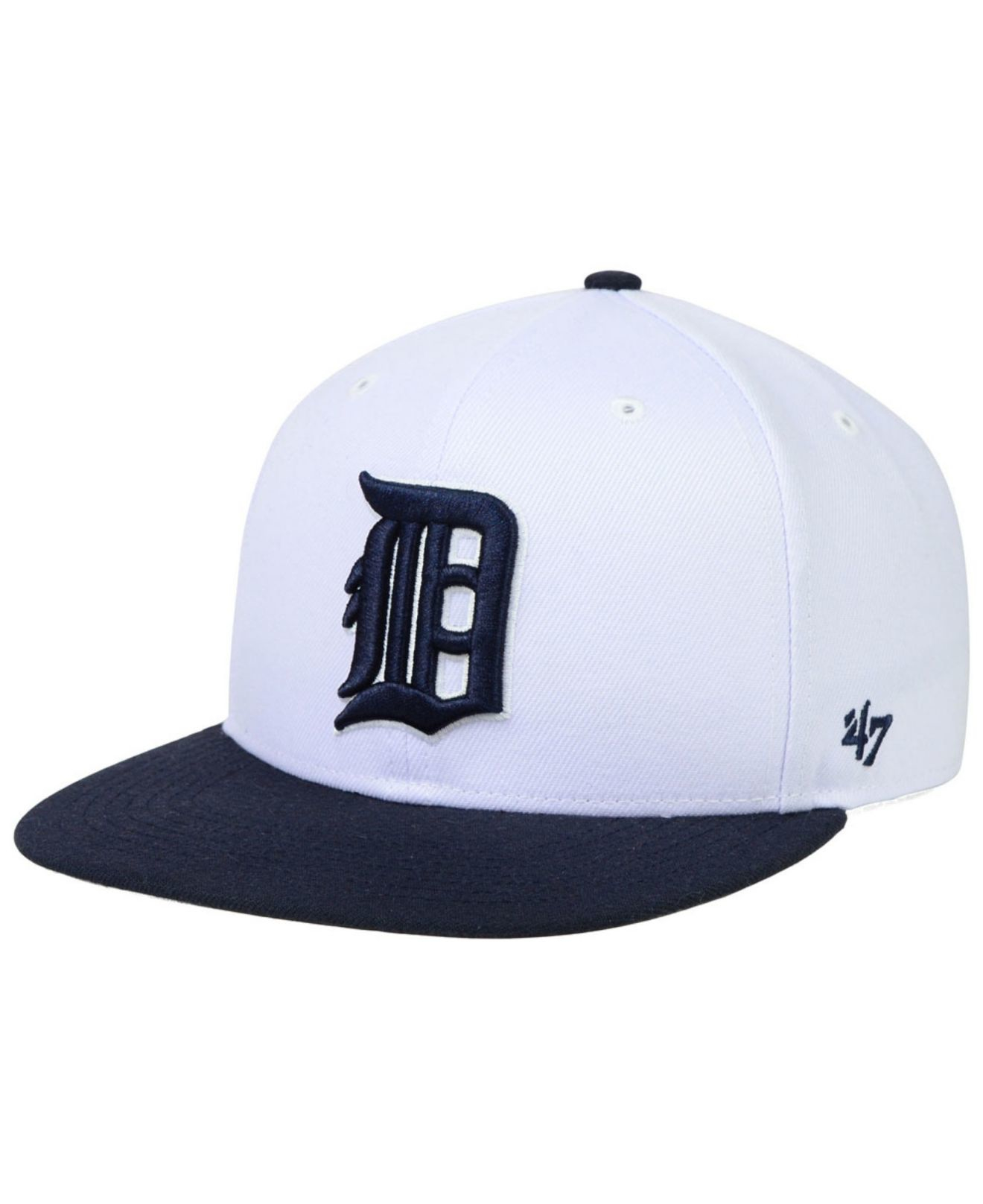 official photos 0e189 76e12 ... italy lyst 47 brand detroit tigers sure shot snapback cap in white for  men 1989b 40a56