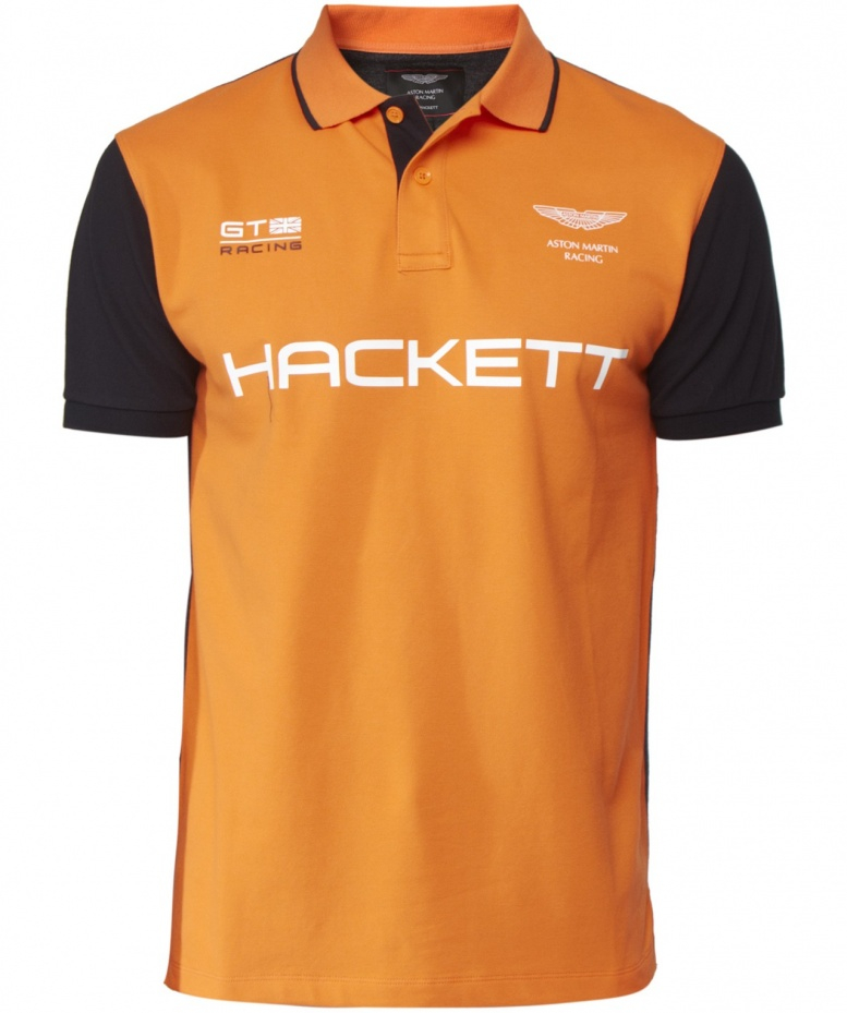 hackett aston martin racing polo shirt in orange for men lyst. Black Bedroom Furniture Sets. Home Design Ideas
