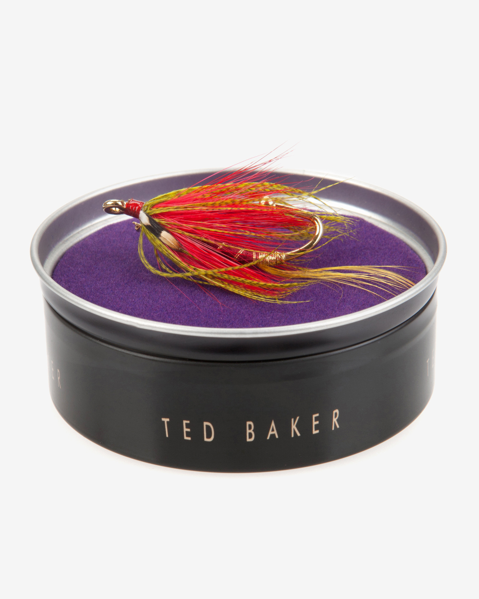 Ted Baker Fly Hook Lapel Pin Badge in Red for Men - Lyst