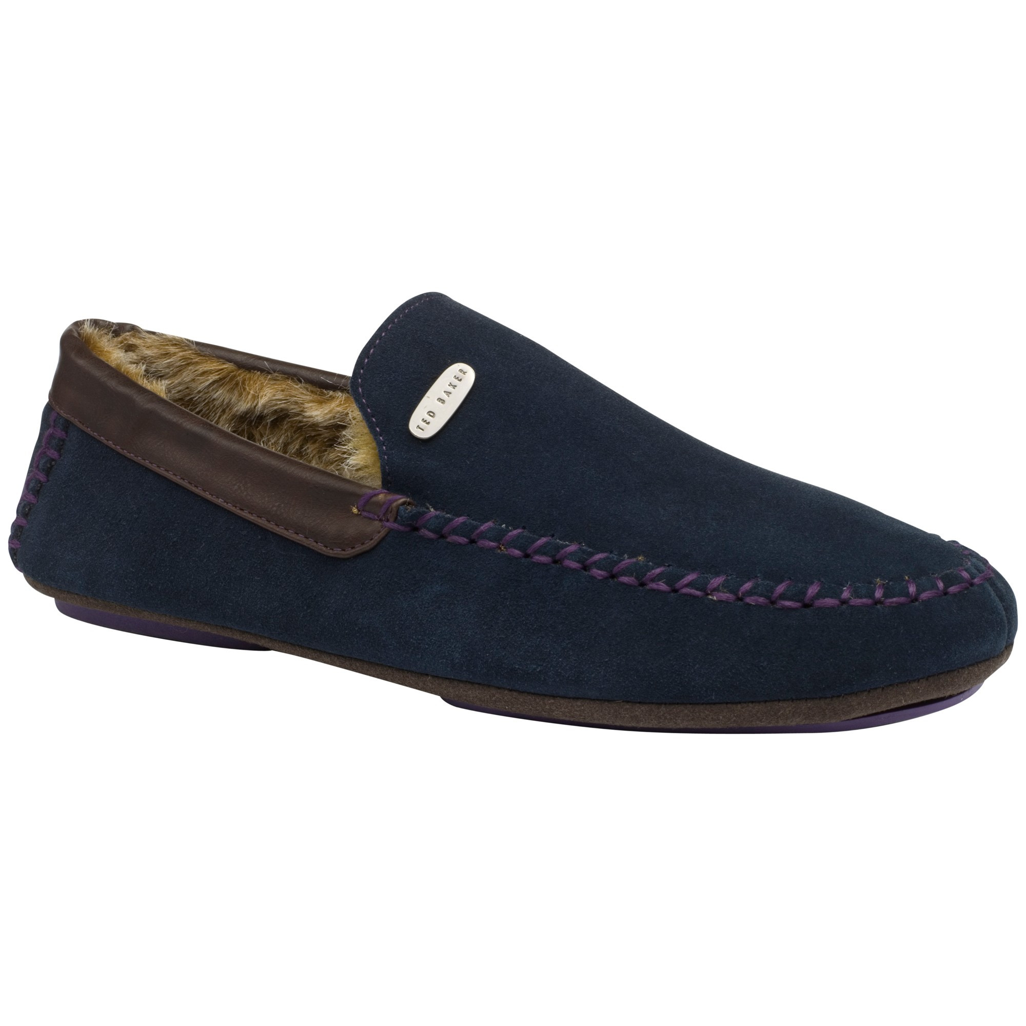Blue Maddox Slippers Moccasin Ted Baker For Men HED2IW9Y