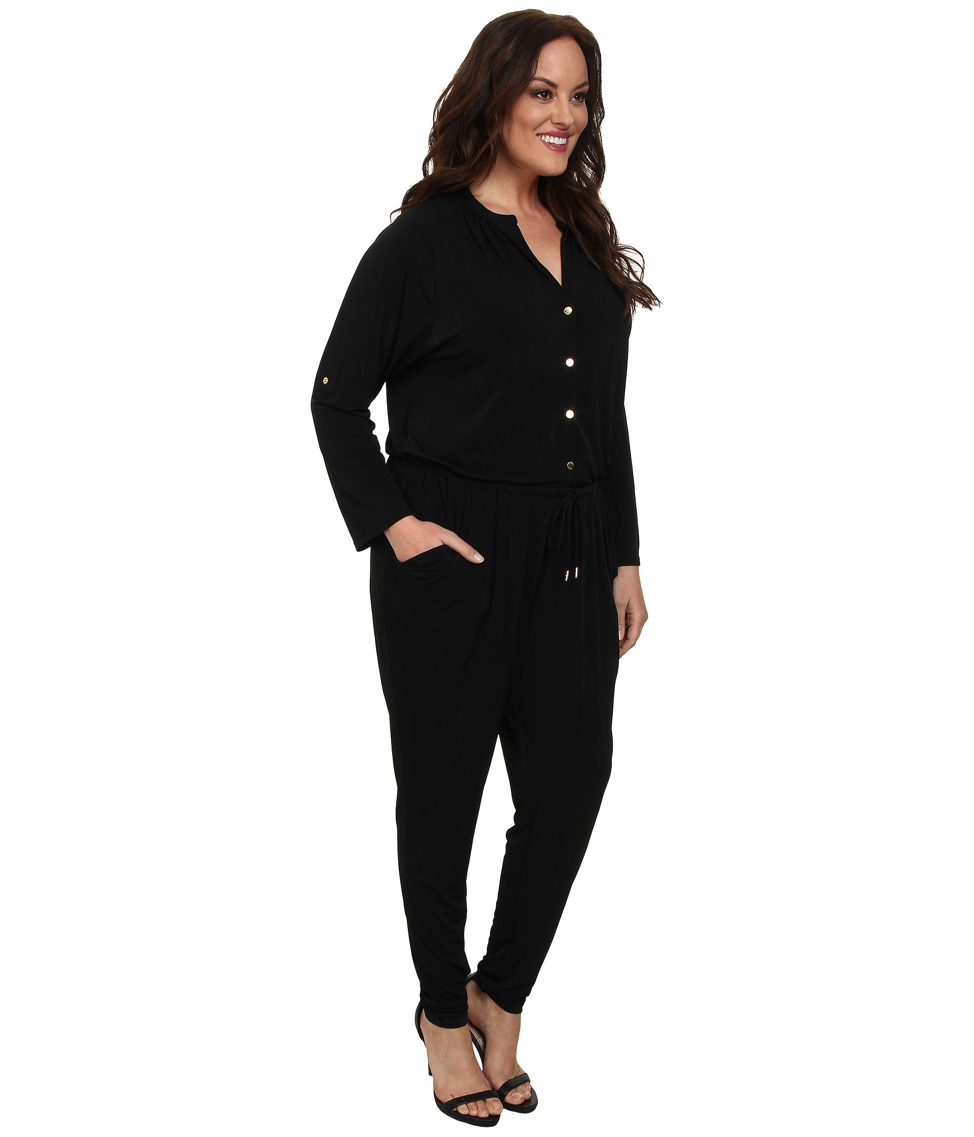 b5c1dc47d0c Lyst - MICHAEL Michael Kors Plus Size Roll Sleeve Raglan Jumpsuit in ...