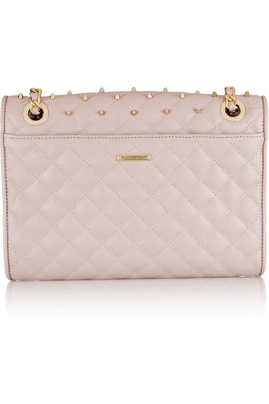 Lyst Rebecca Minkoff Quilted Affair Studded Leather