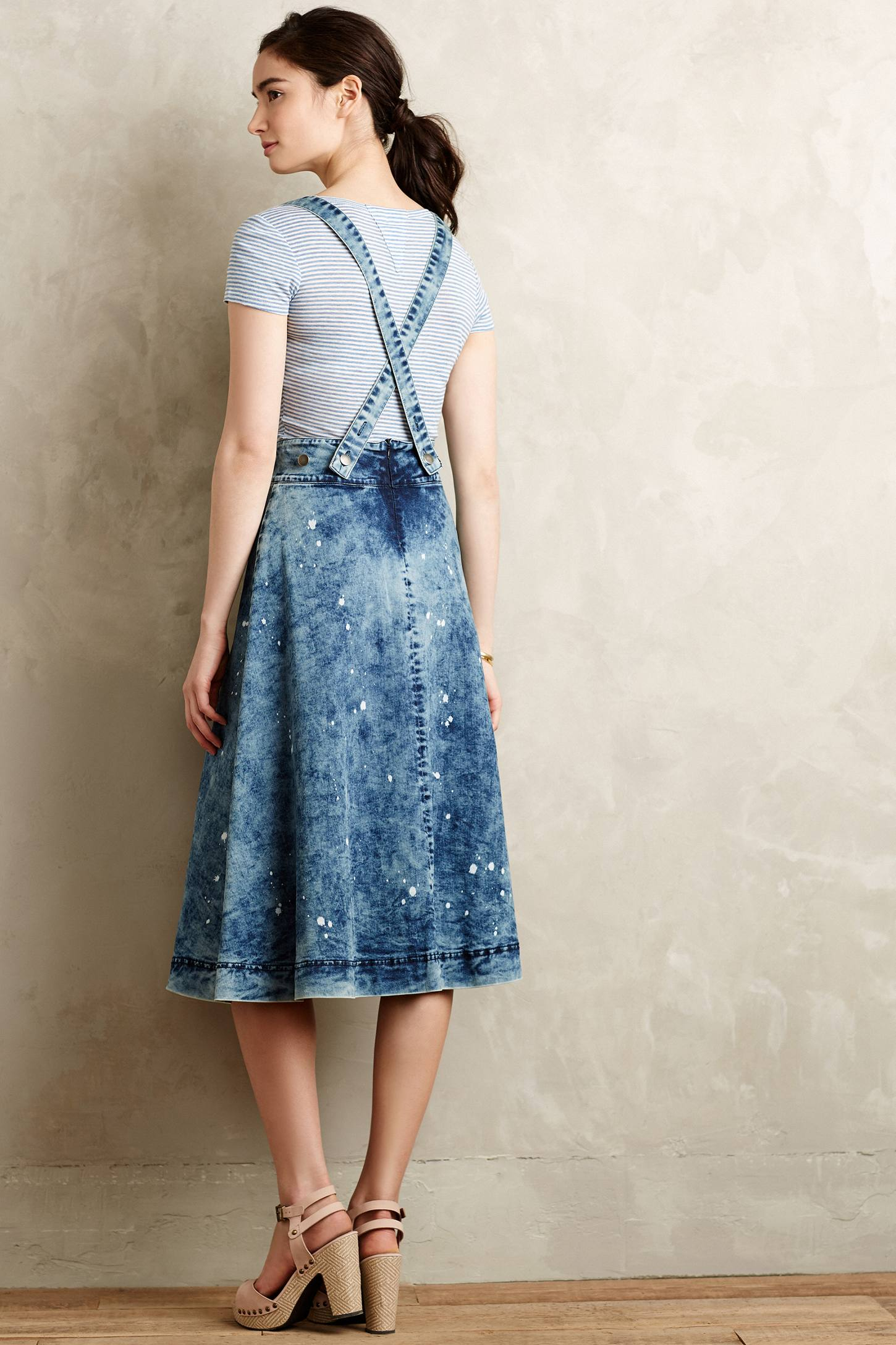 Denim Overall Skirt - Skirts