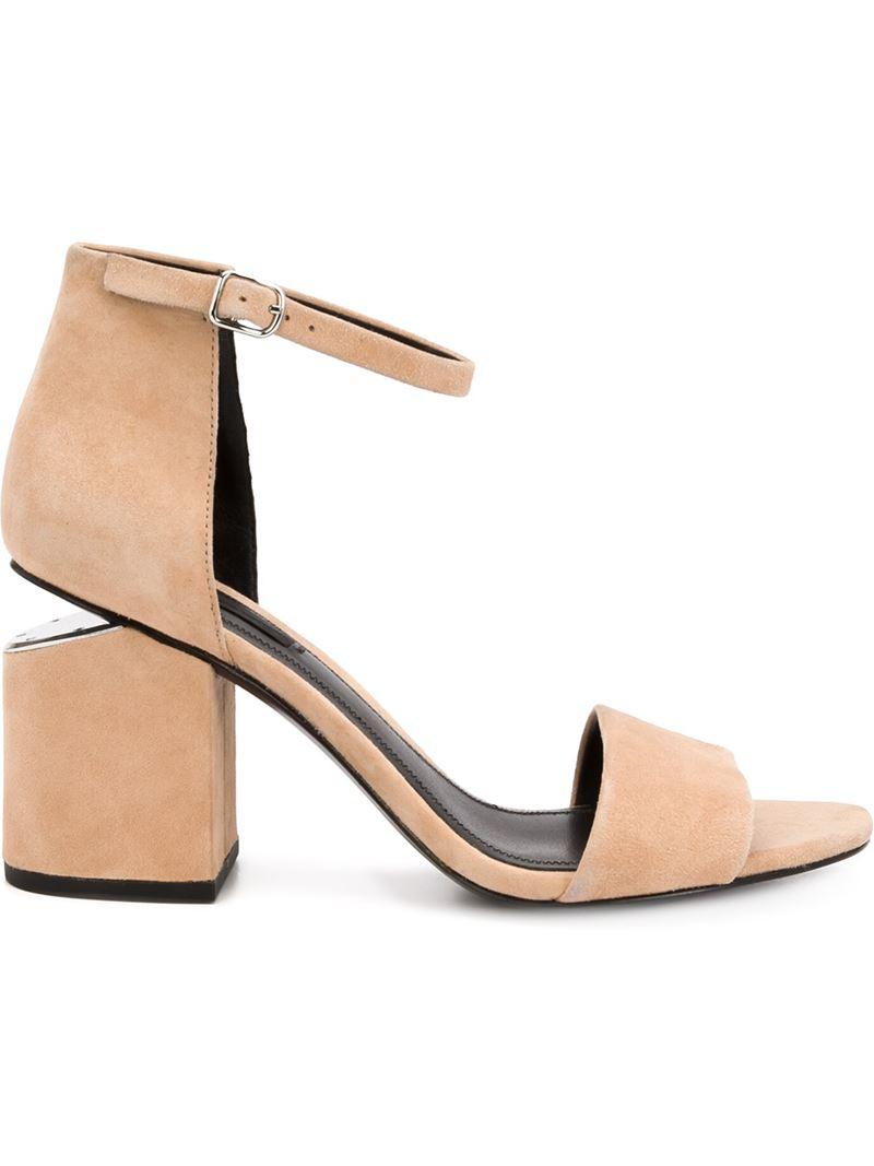 Abby Dome Stud sandals - Nude & Neutrals Alexander Wang REoyOL